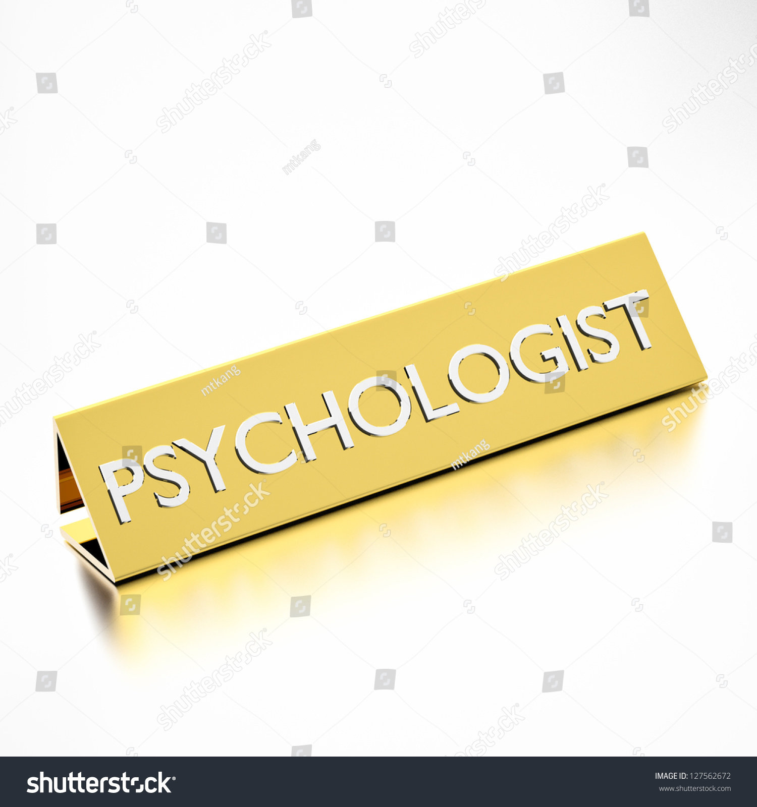 Psychologist Job Title On Nameplate Career Stock Illustration ...