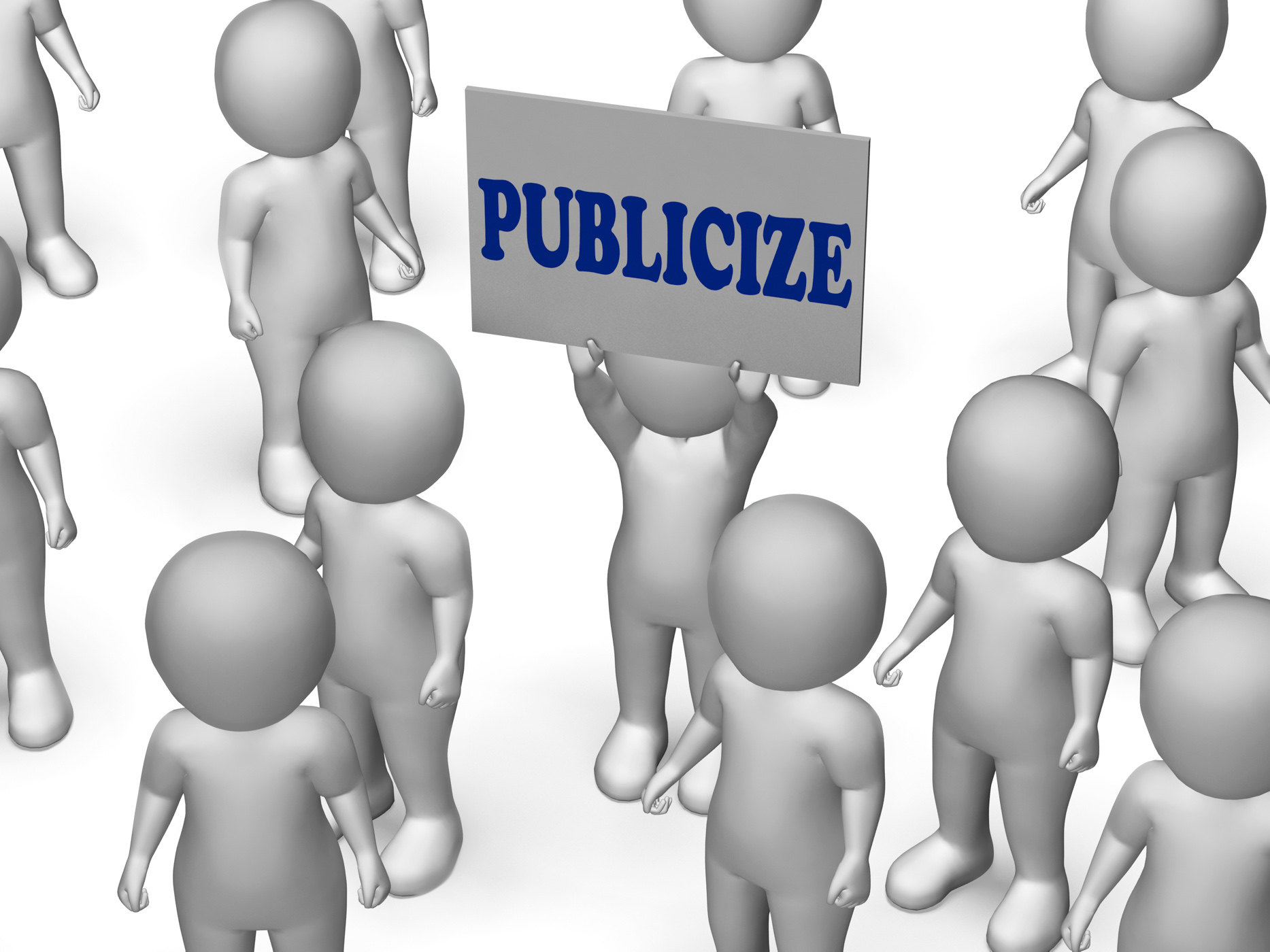Publicize board character shows product advertising or business public photo