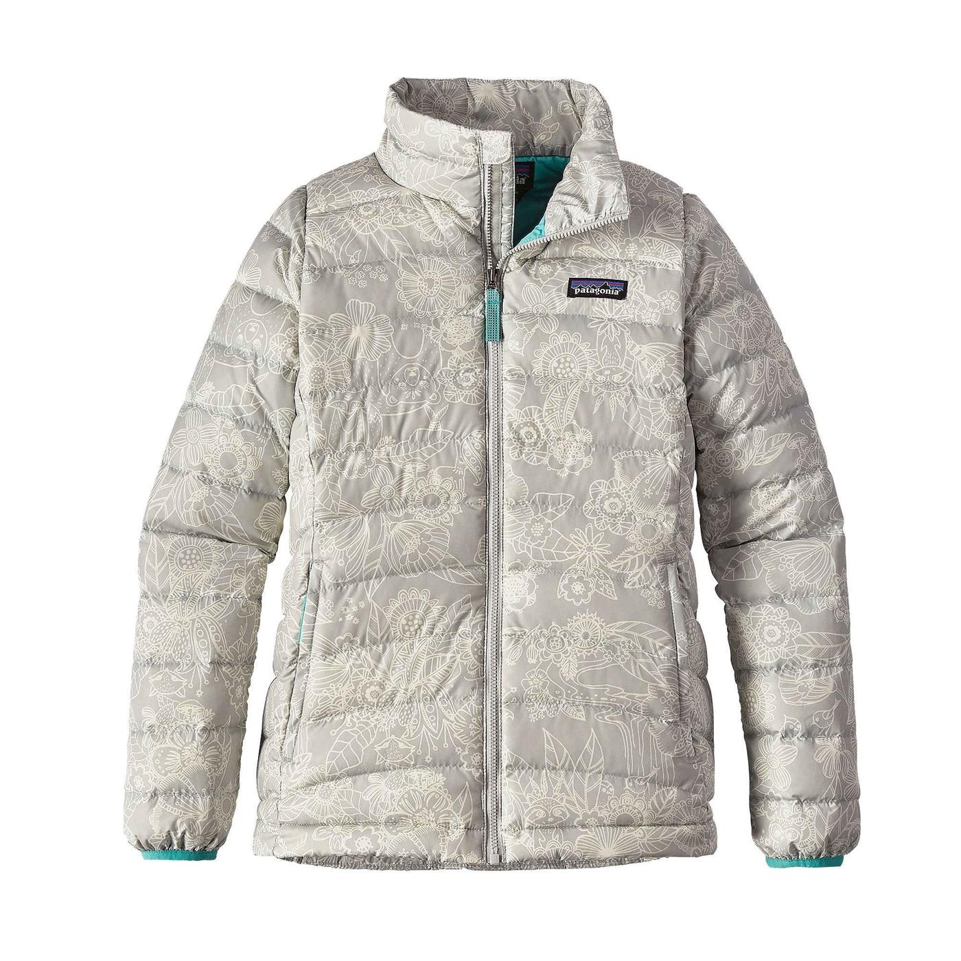 Patagonia Girls Down Sweater Jacket - Youth Cuddle Puddle / Grey ...