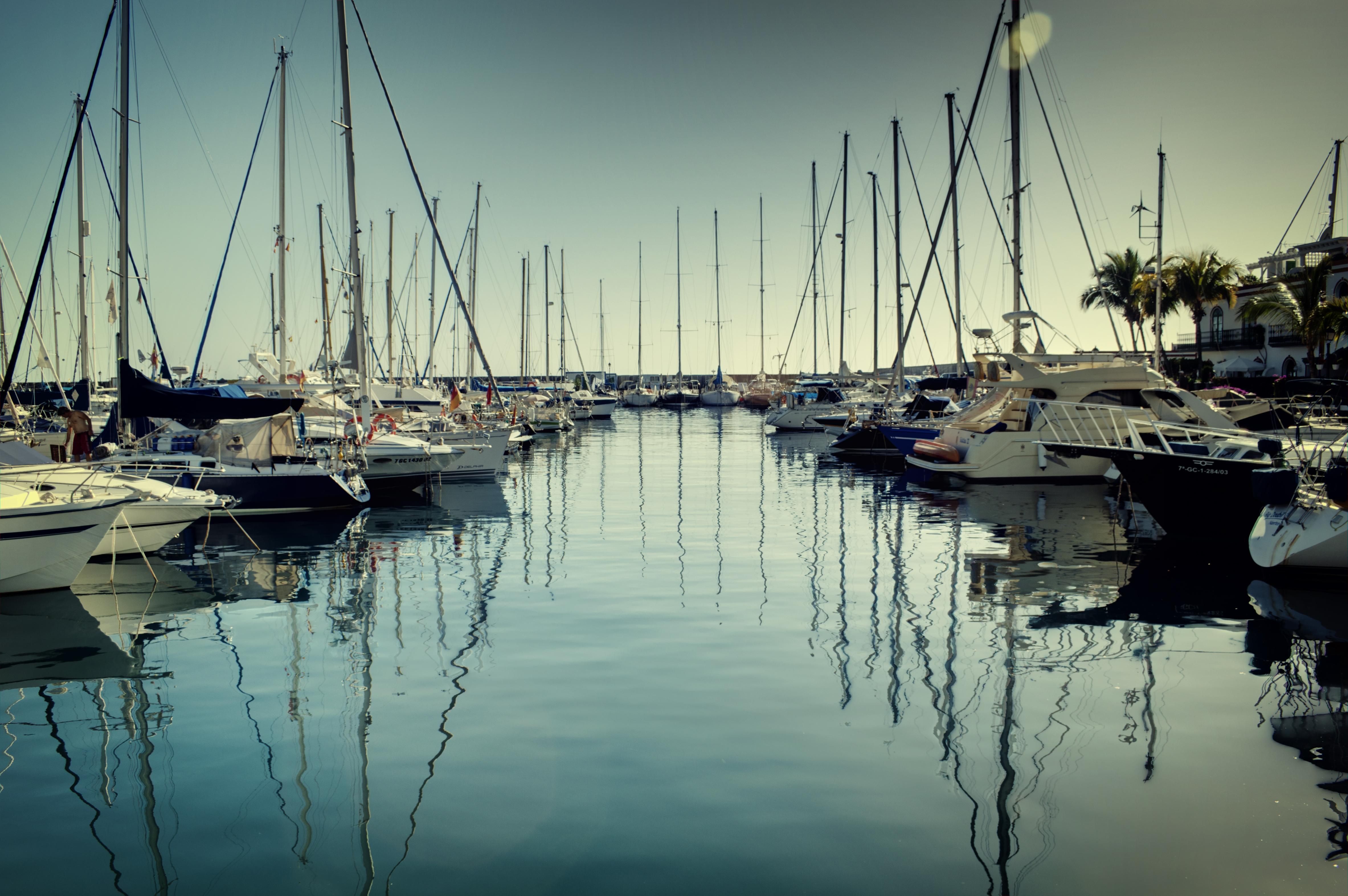 Puerto de mogan reflections photo