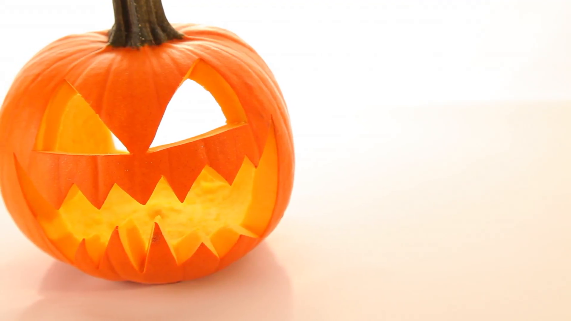 Halloween pumpkin on white background Stock Video Footage - VideoBlocks