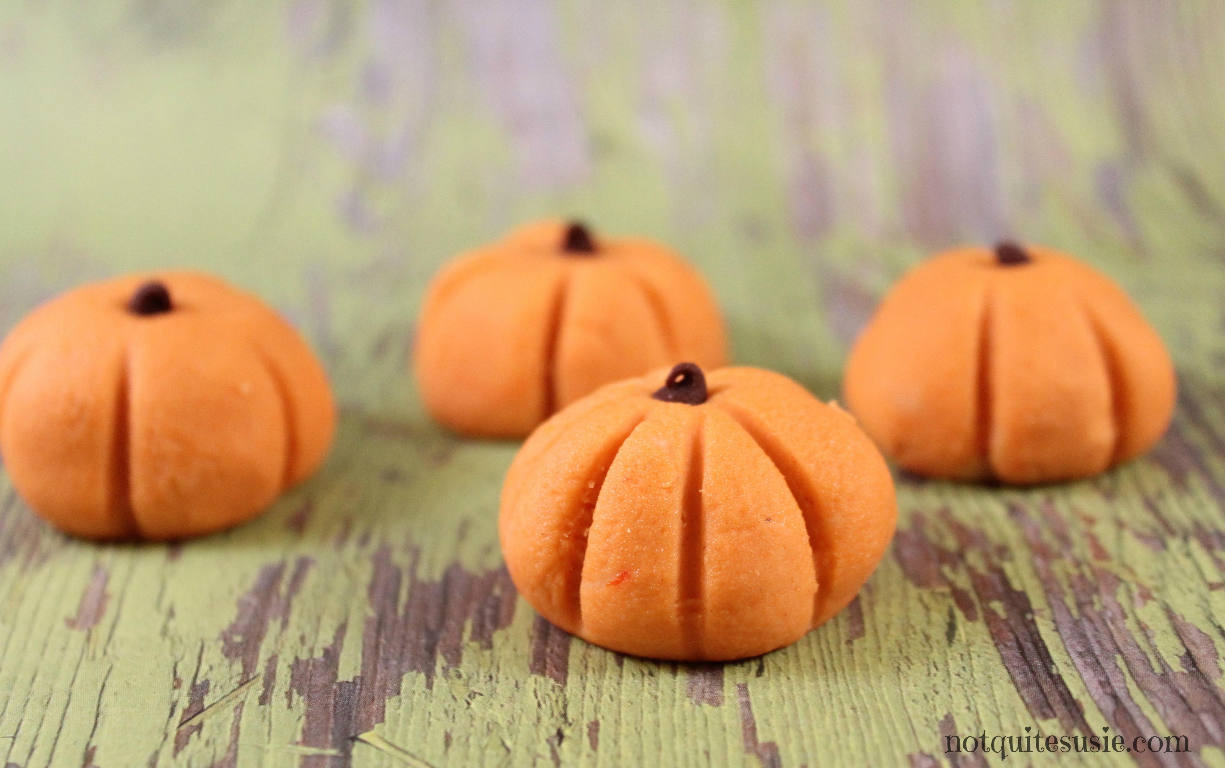 Easy Halloween Recipe: No Bake Peanut Butter Pumpkin Bites - {Not ...