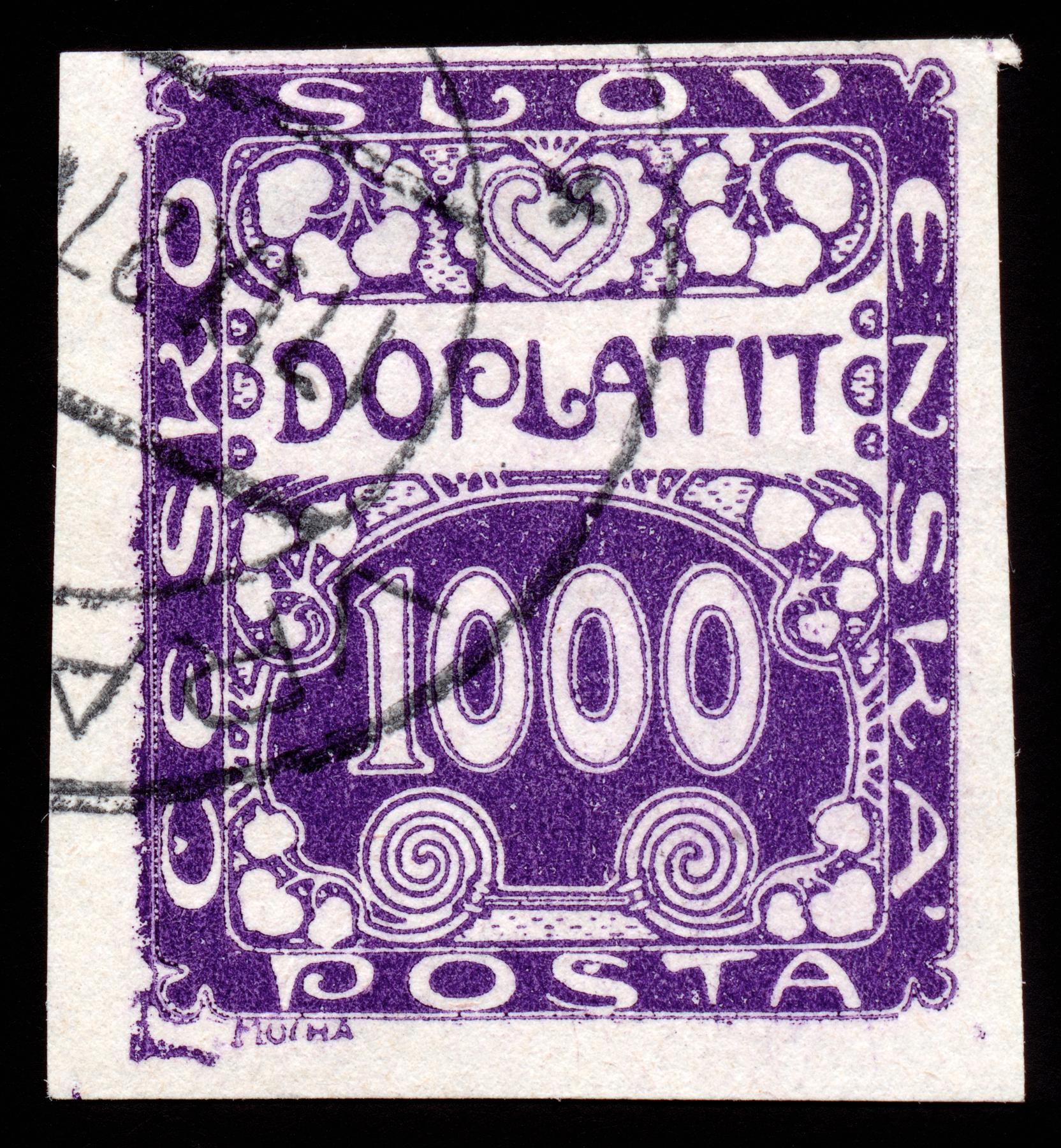 Purple art nouveau stamp photo