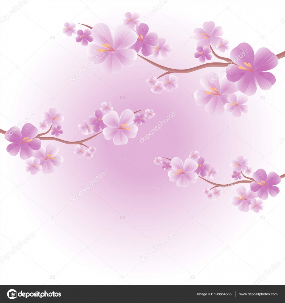 Flowers design. Flowers background. Apple tree flowers. Branches of ...