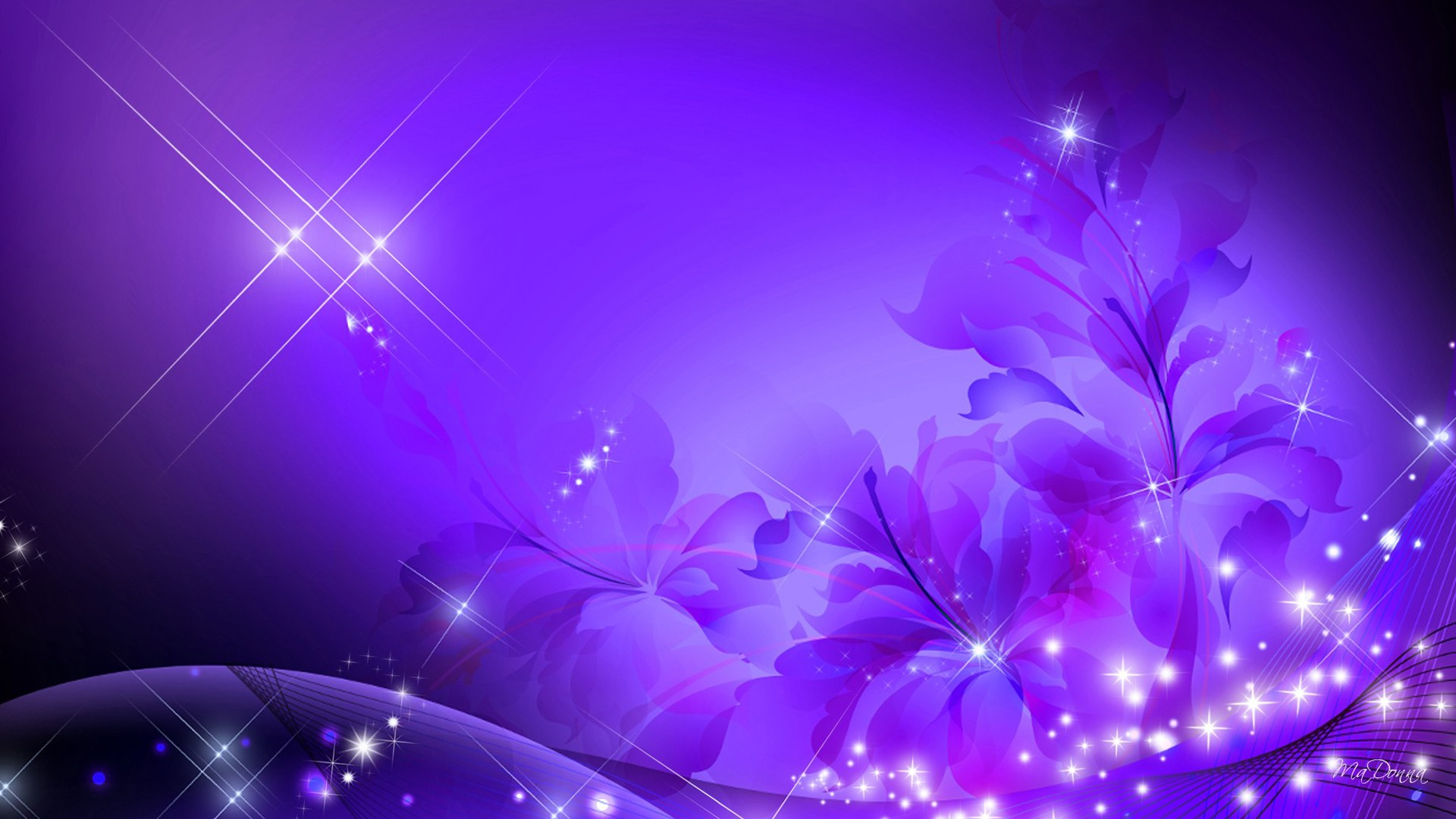 Flower: Glorious Purple Flowers Design Glimmer Lavender Abstract ...
