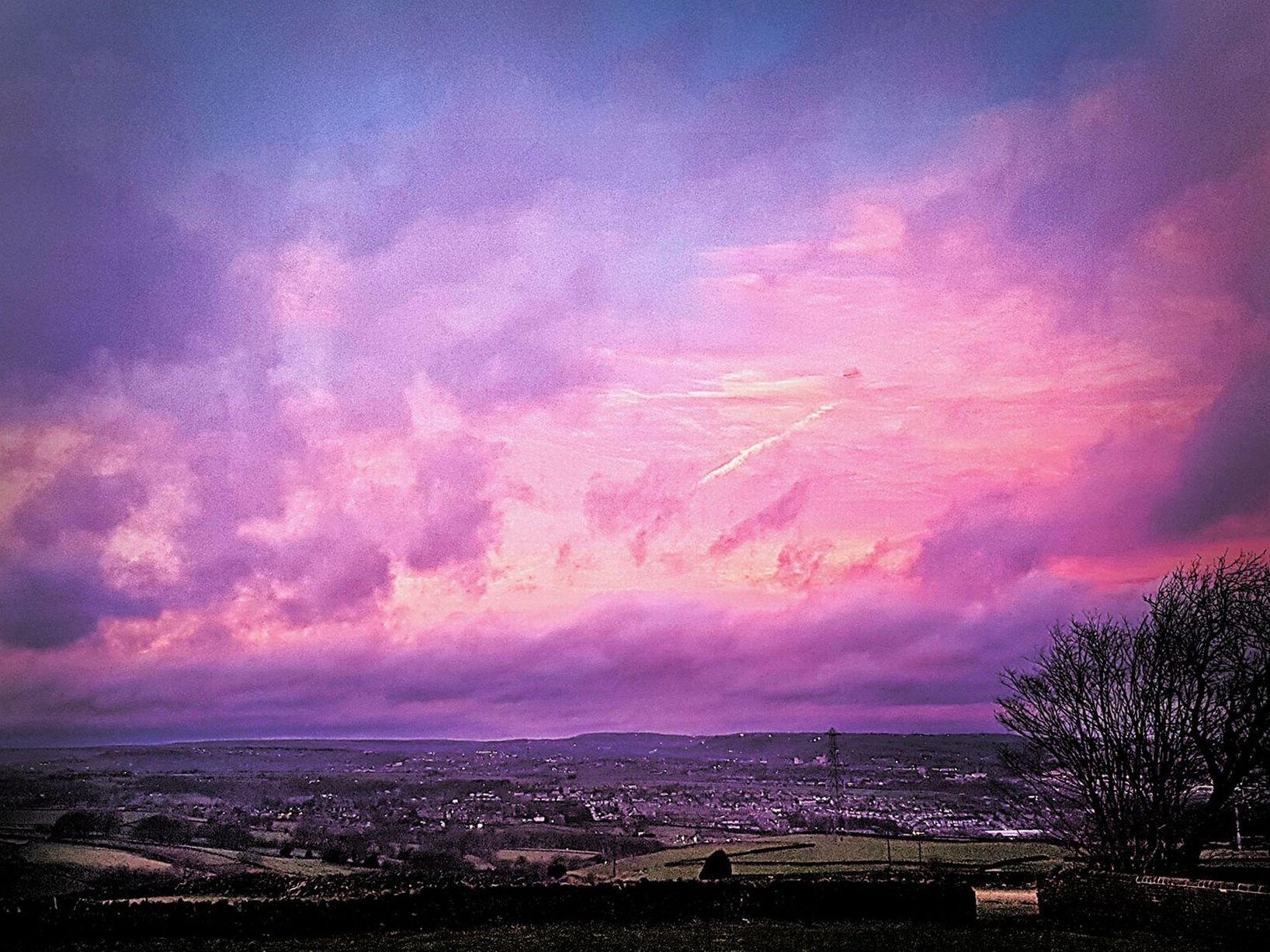 Free photo: Purple Sky - Blue, Clouds, Cloudy - Free Download - Jooinn