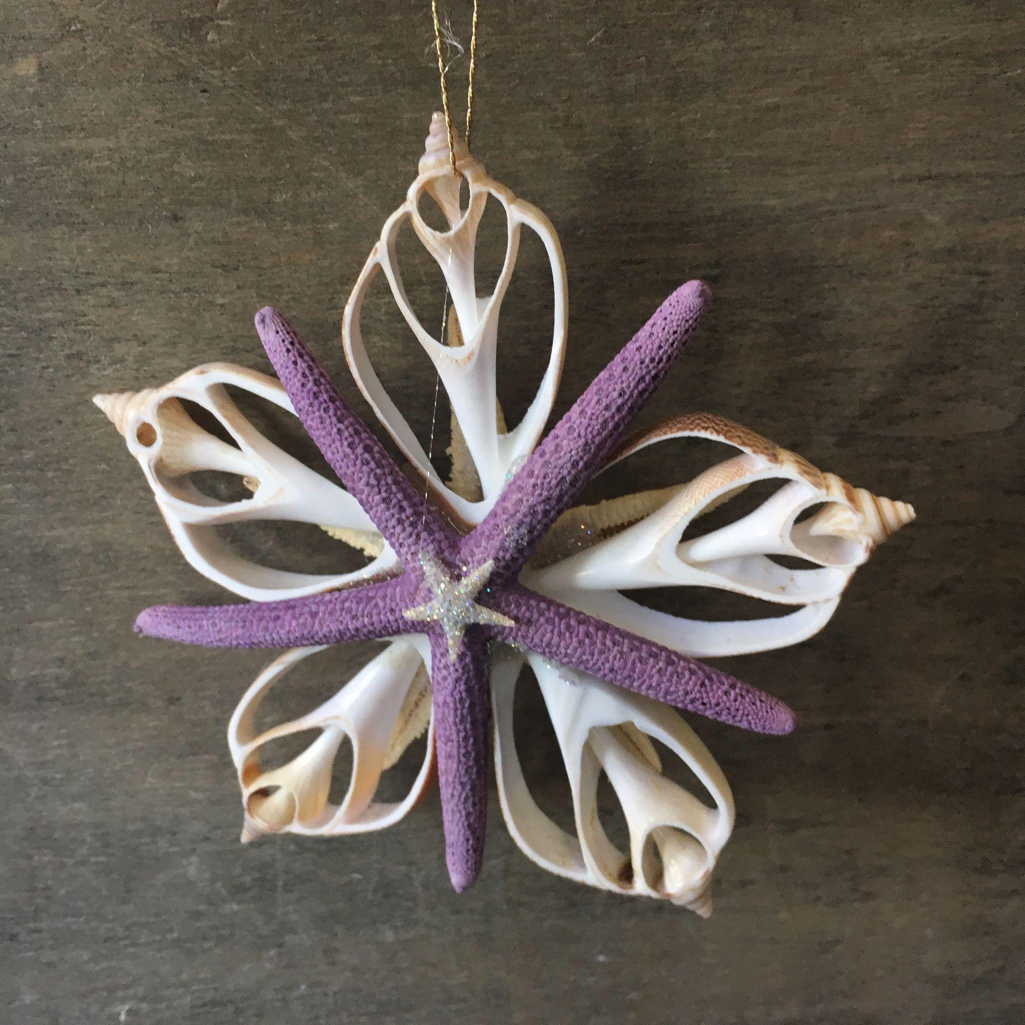 Purple Star Ornament | Starfish, Christmas ornament and Shell