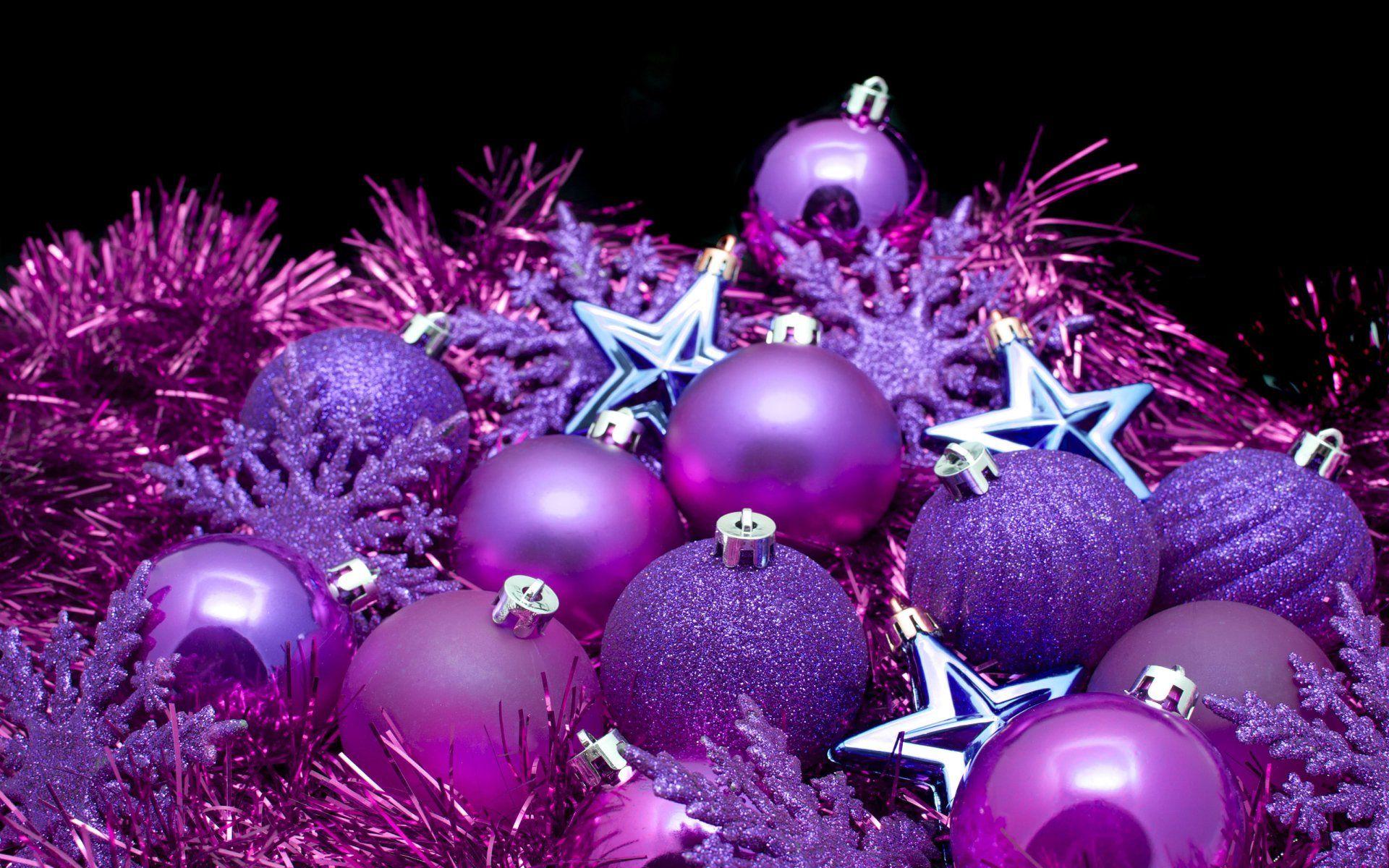 Holiday Christmas Holiday Christmas Ornaments Star Snowflake Purple ...