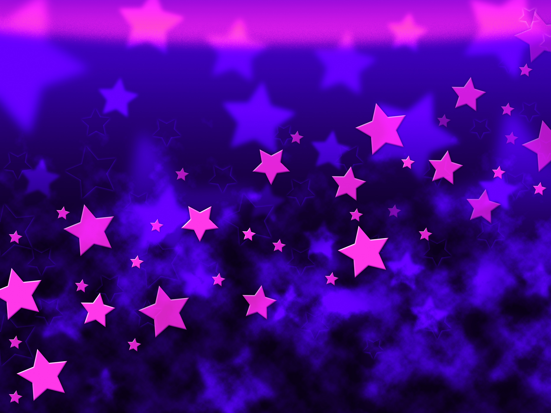 Purple stars background shows celestial light and starry photo