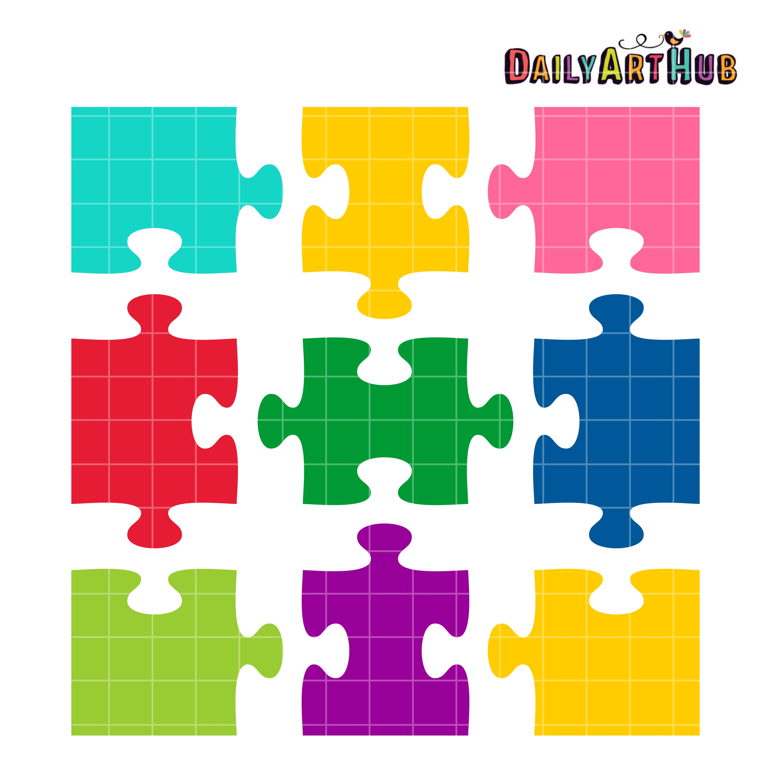 Jigsaw Puzzle Shapes Clip Art Set – Daily Art Hub – Free Clip Art ...