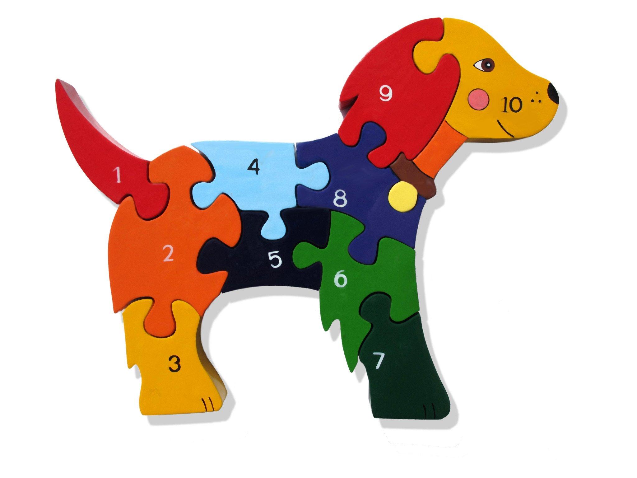 Number Dog, Toddler Jigsaw Puzzles | Alphabet Jigsaws