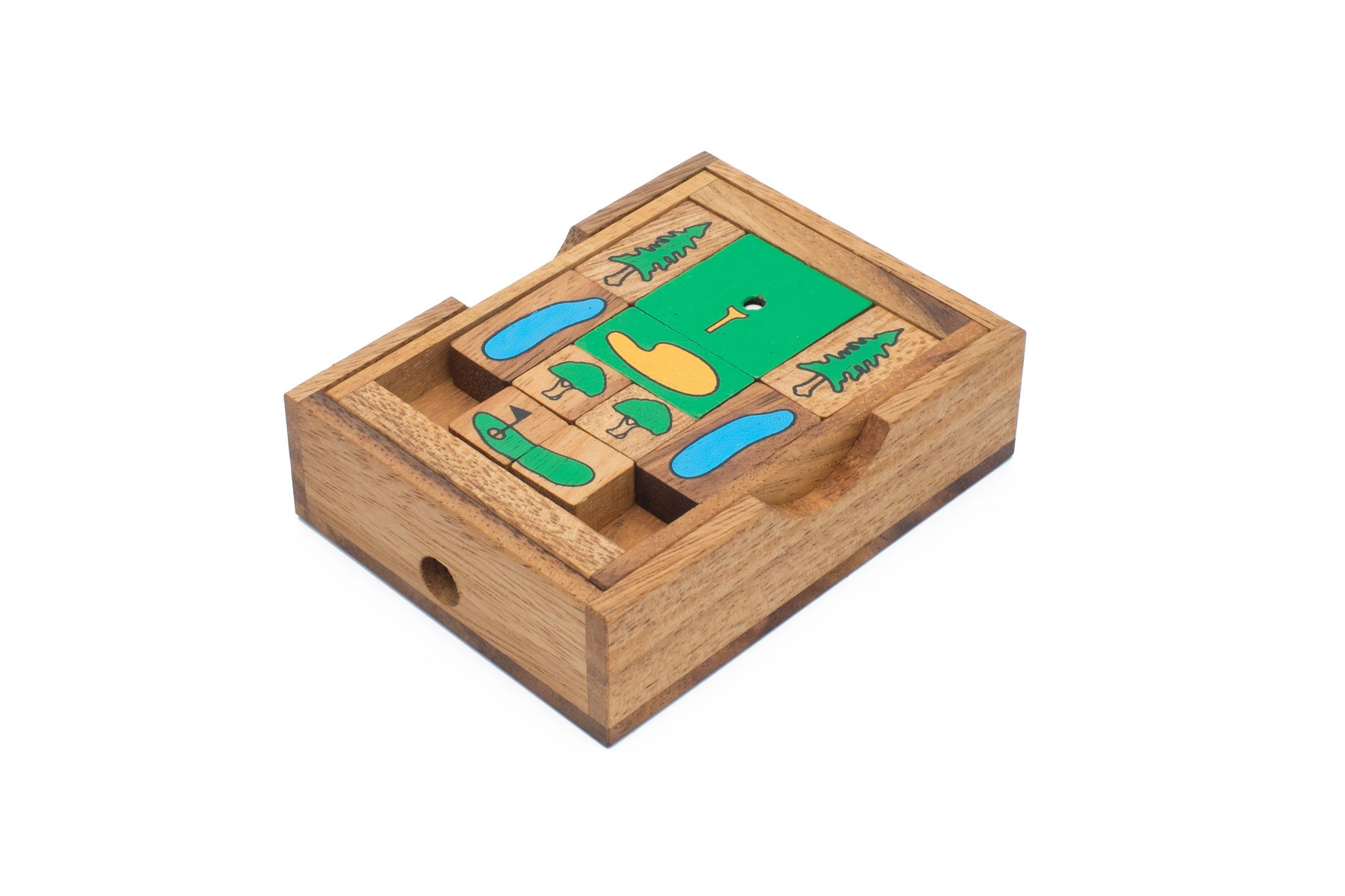 Golf Themed Sliding Block Puzzle - Slide the Tiles Sink the Put