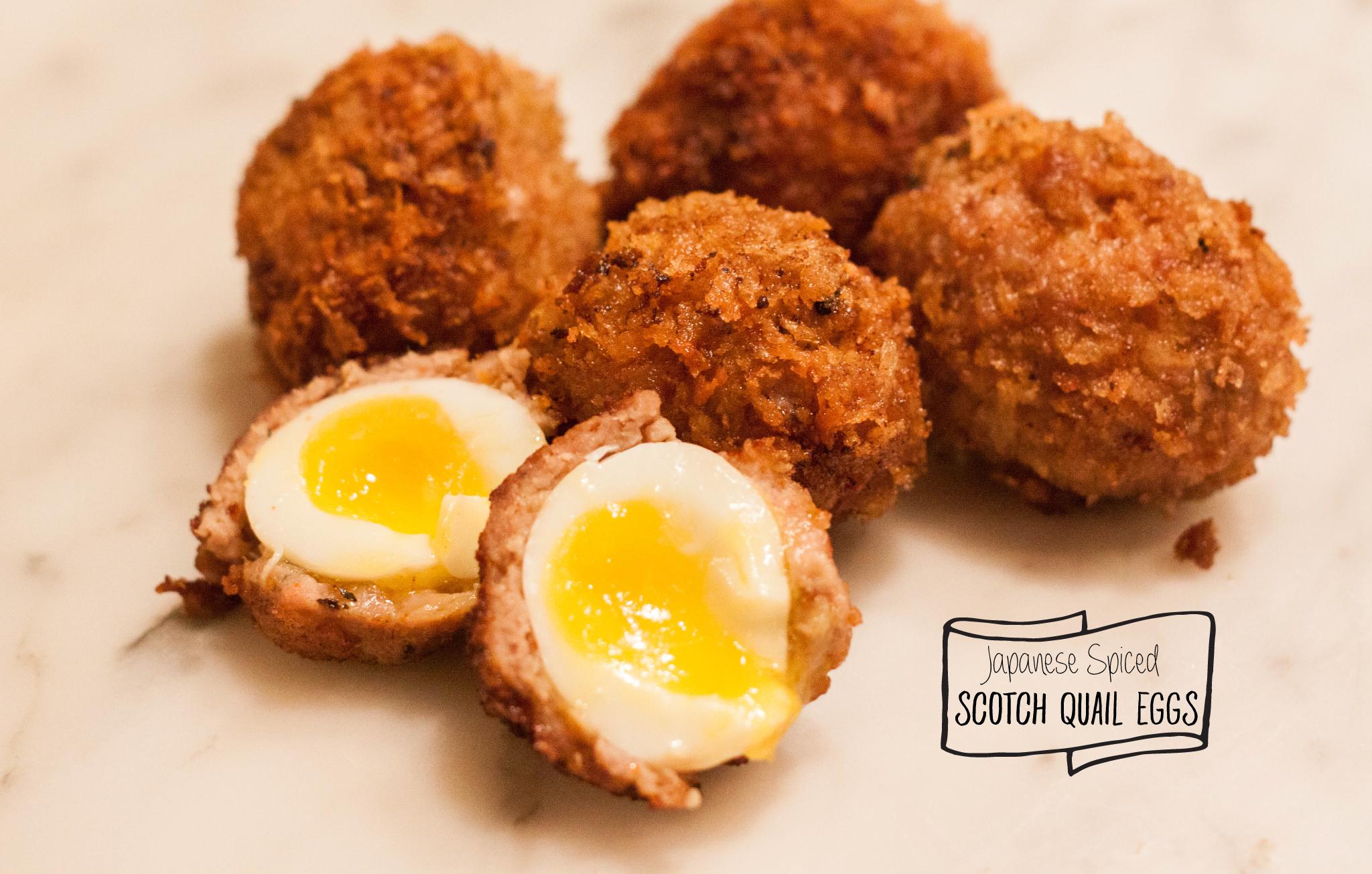 Japanese Spiced Scotch Quail Eggs • The Savoury CellarThe Savoury Cellar