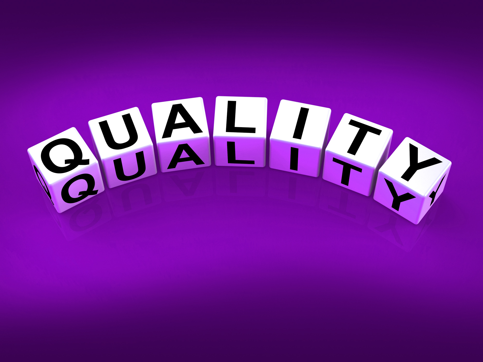 Quality blocks mean qualities traits and aspects photo