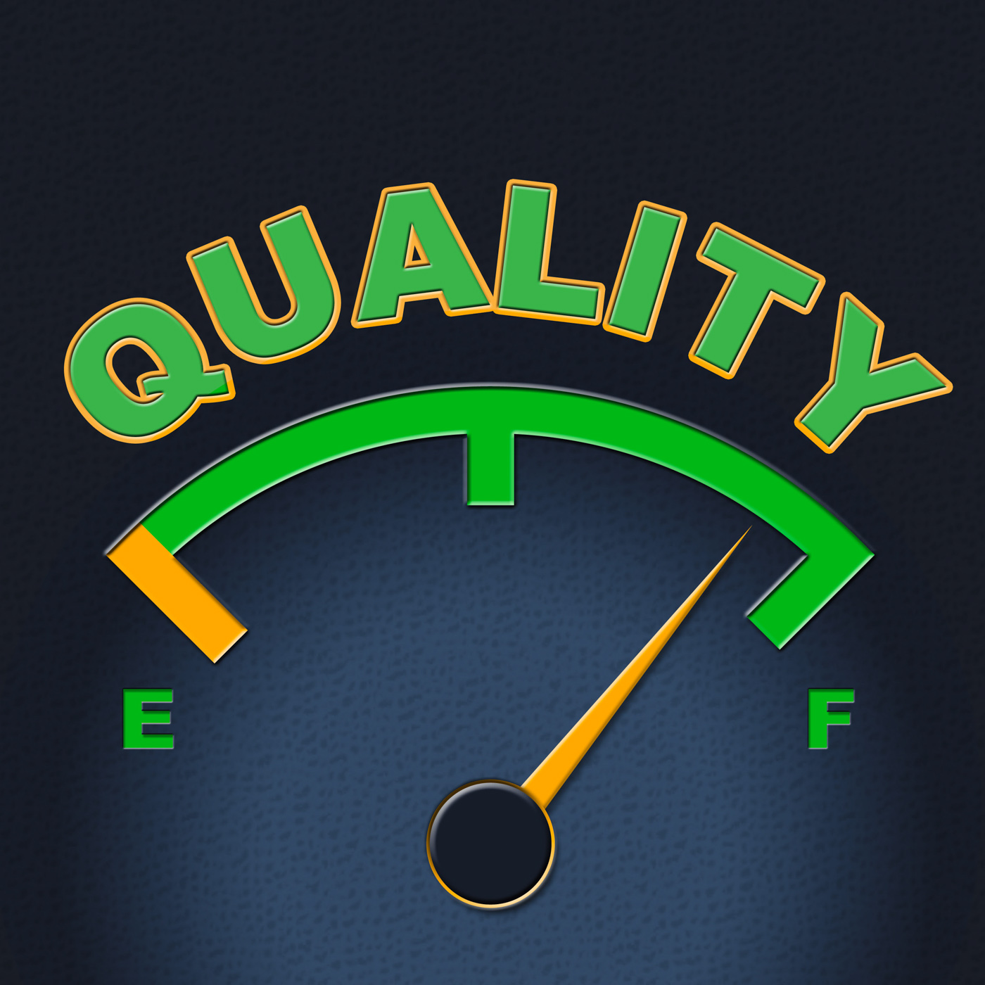 Quality gauge indicates perfect indicator and satisfaction photo