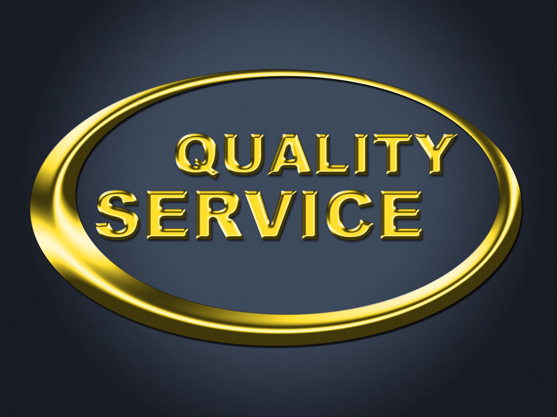 Quality service sign represents help desk and advice photo