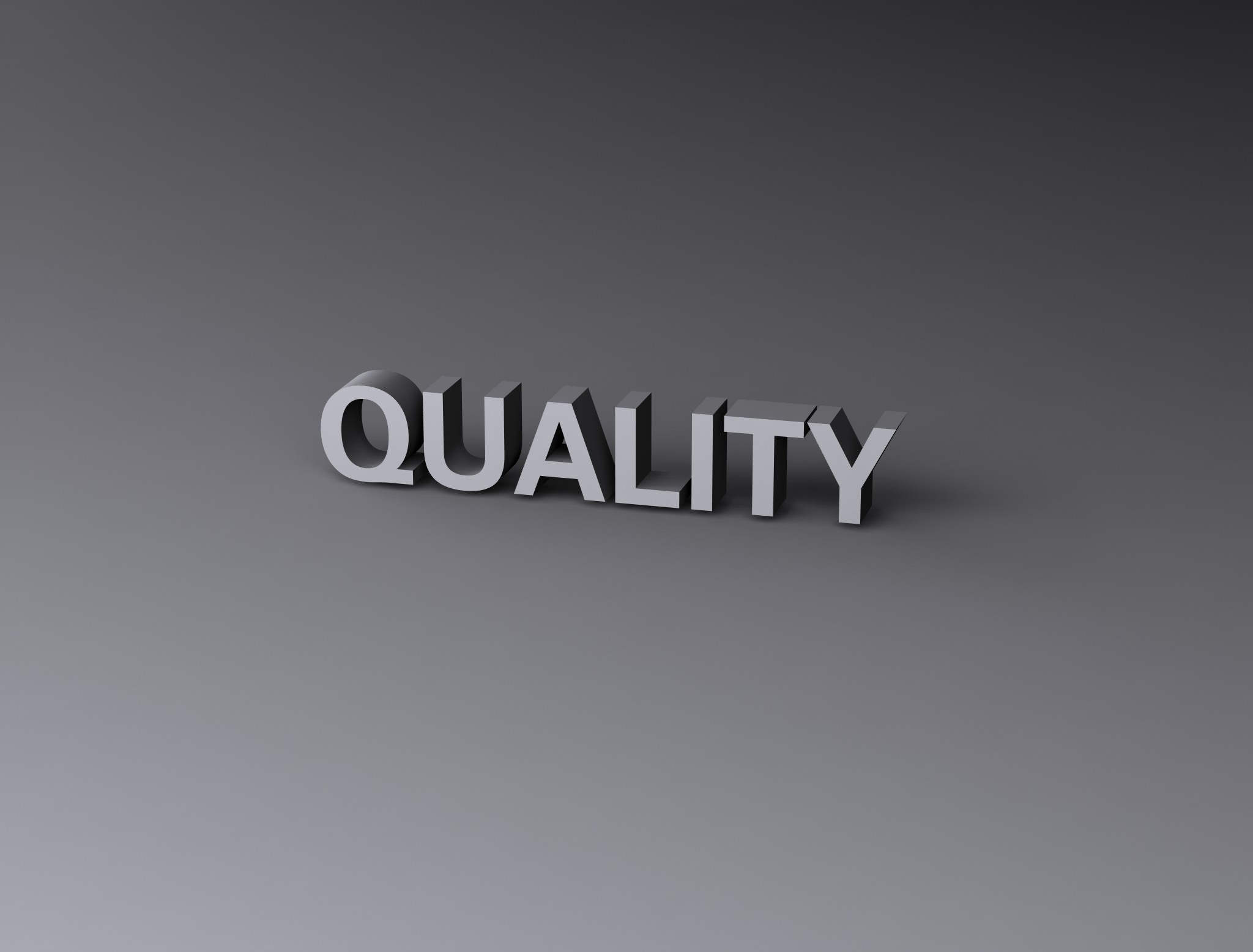 Quality, 3d, Render, Text, Typography, HQ Photo