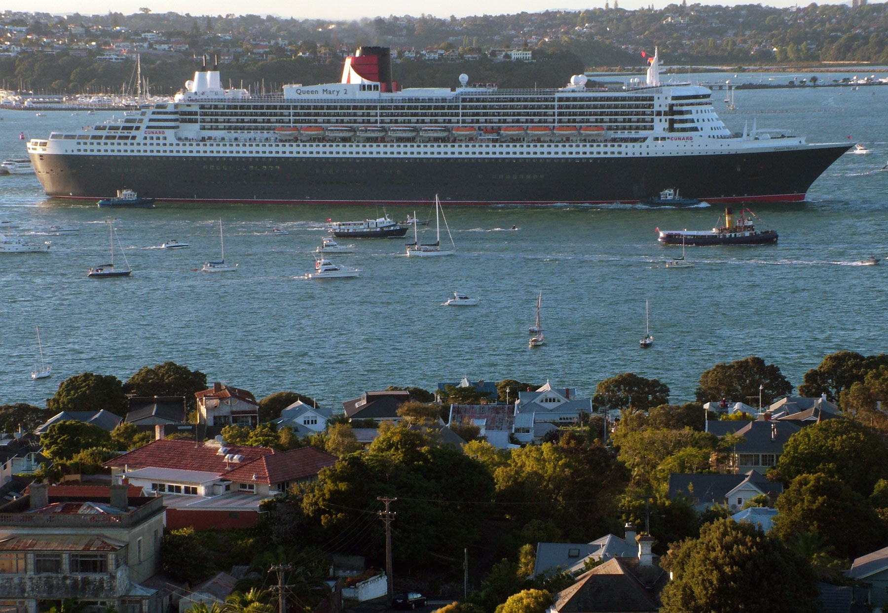 Queen Mary 2, Auckland, Boat, Boats, Cruiser, HQ Photo