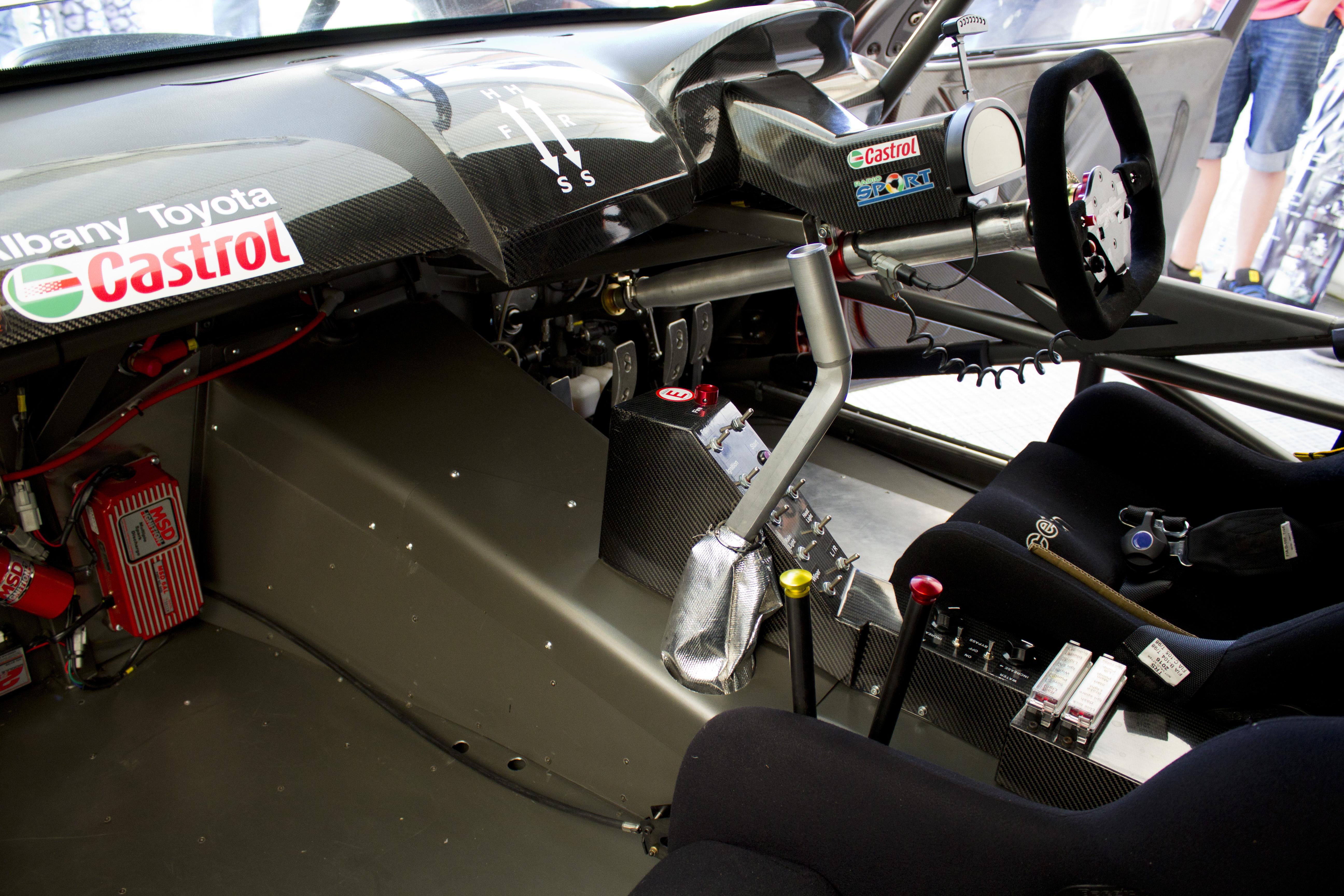 Race car interior photo
