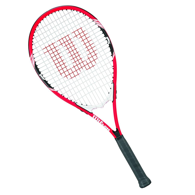 Amazon.com : Wilson Federer Adult Strung Tennis Racket : Sports ...