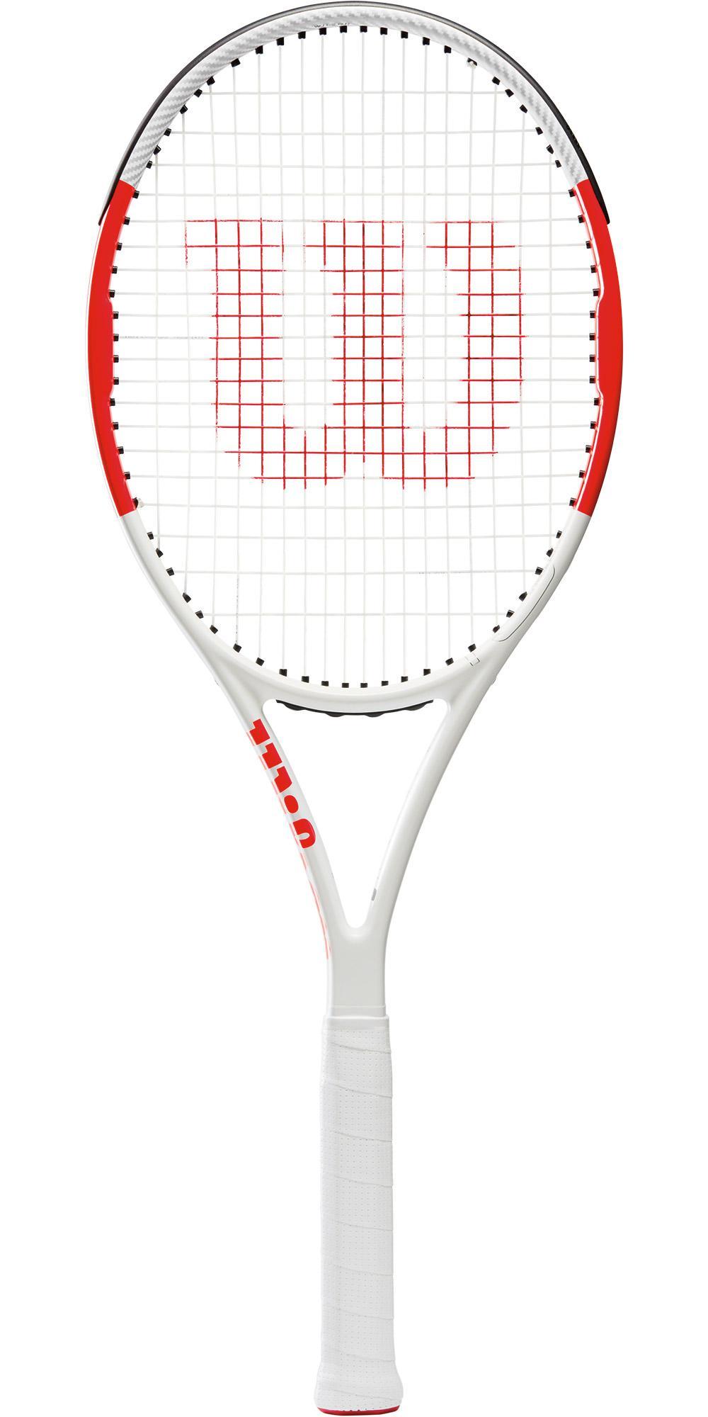 Wilson Six.One 95 Tennis Racket - White/Red - Tennisnuts.com