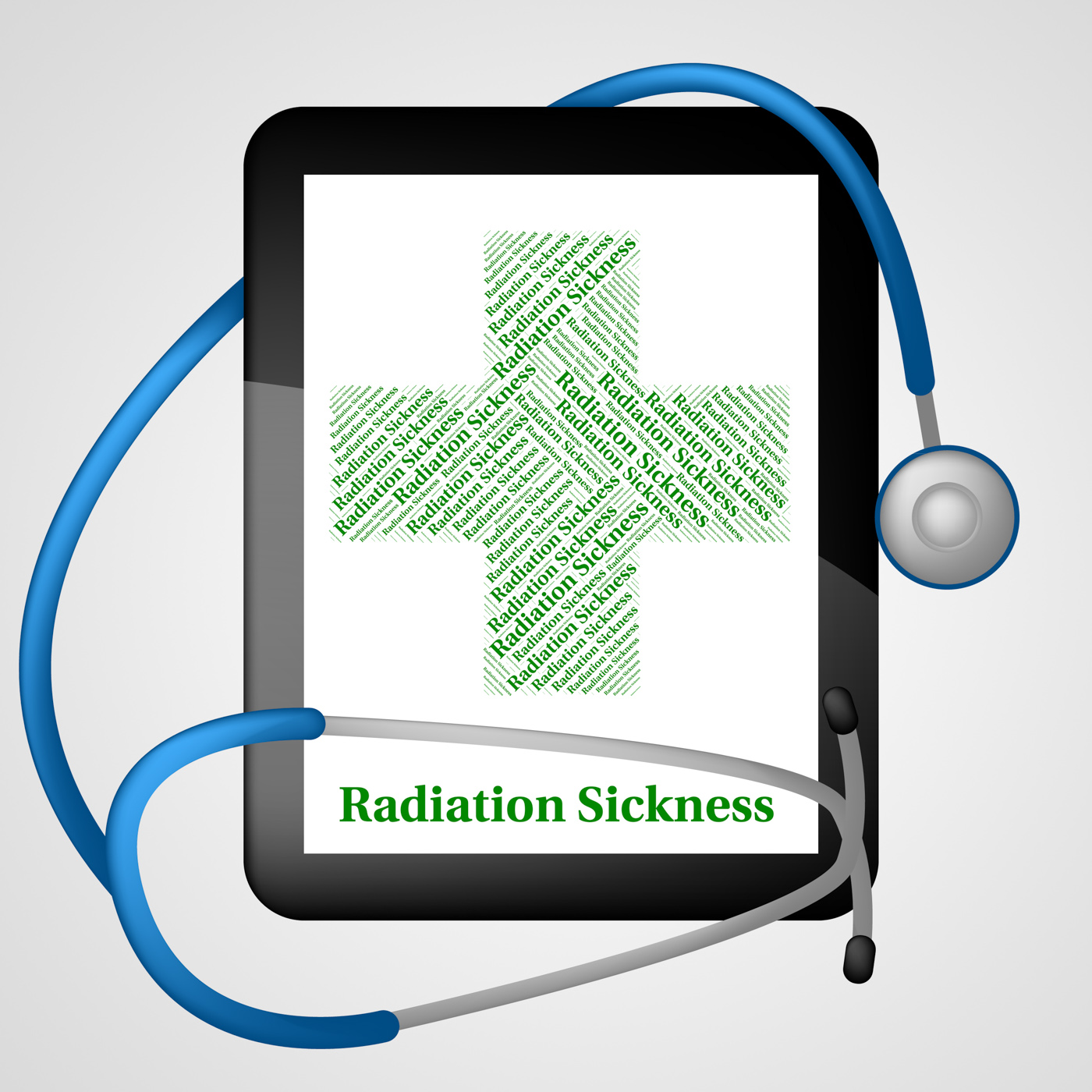Radiation sickness represents poor health and acute photo