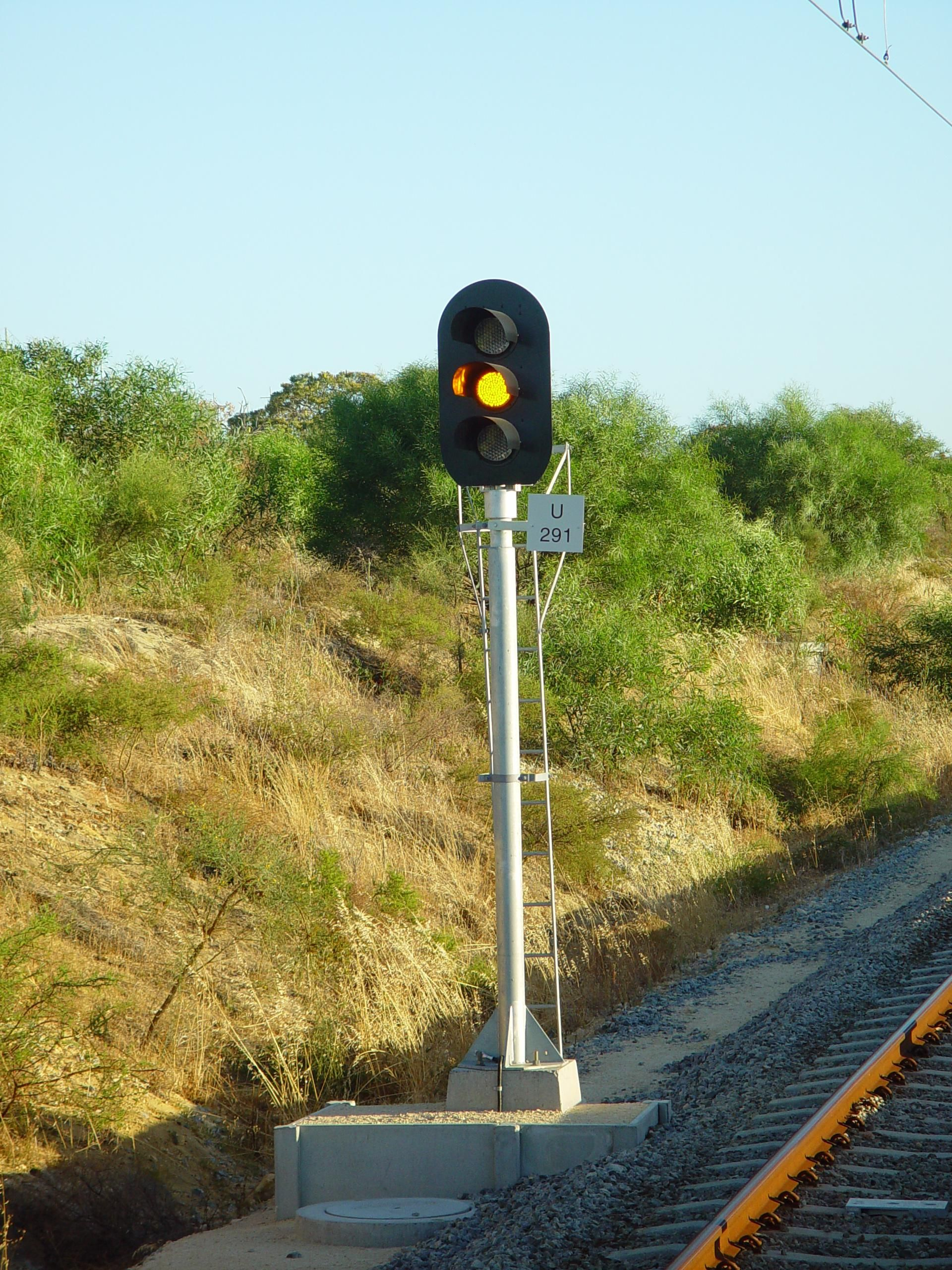 Free picture: railway, signal, currambine, amber