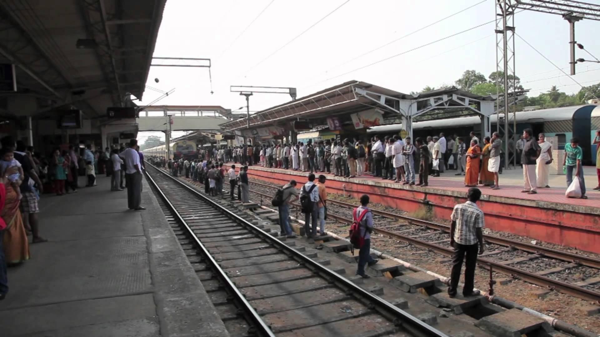 Kottayam Station Train Arrival - YouTube