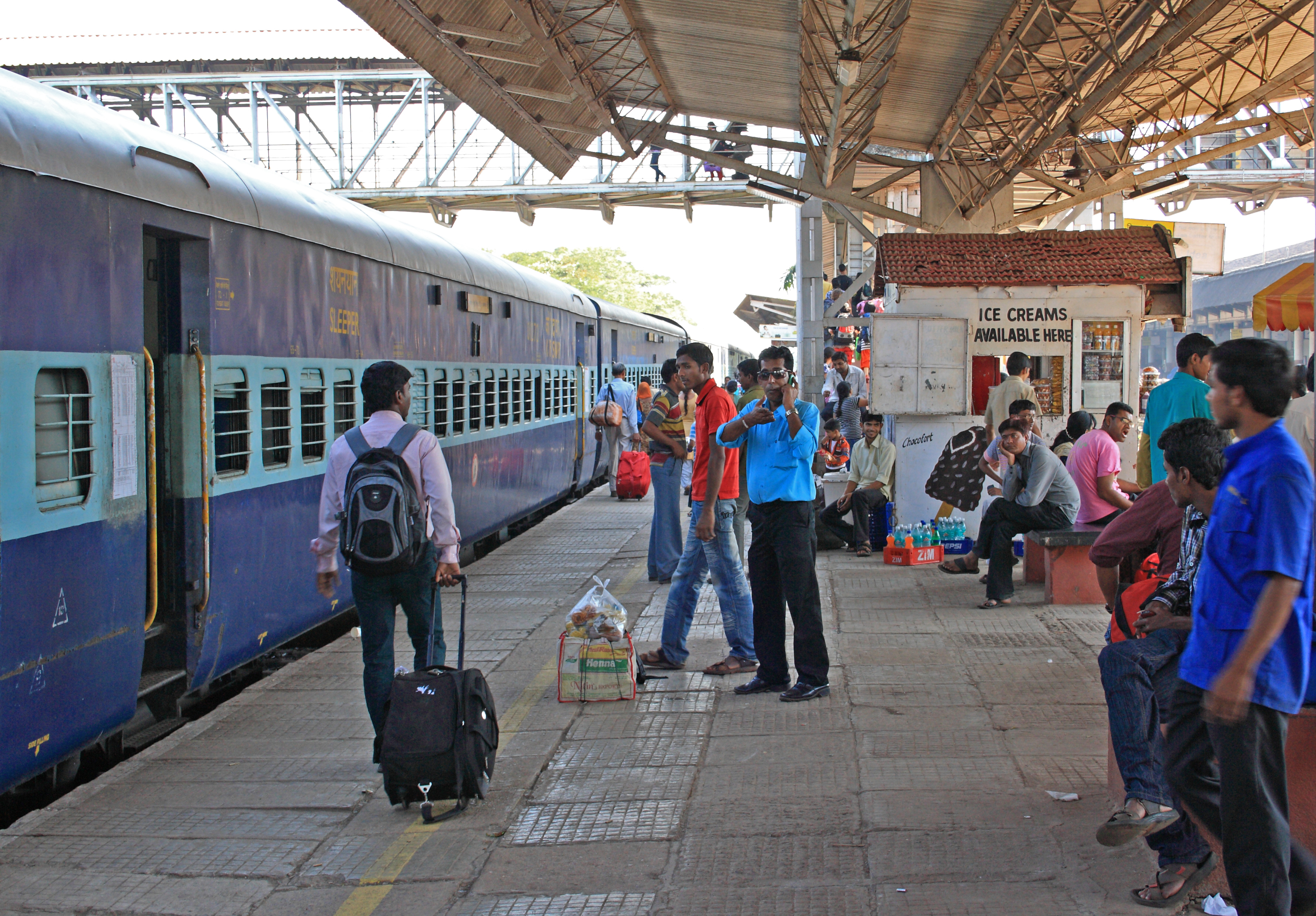 Short Article on a Scene at the Railway Station