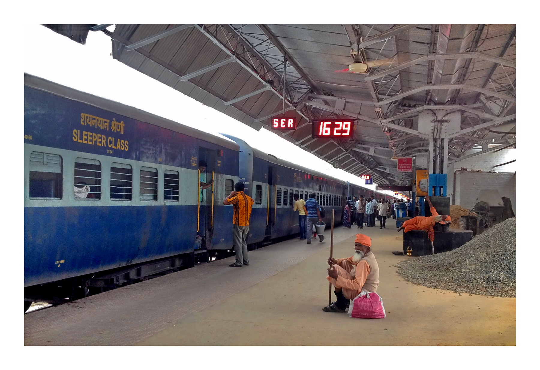 Railway Station and the Sadhus, a photo from West Bengal, East ...