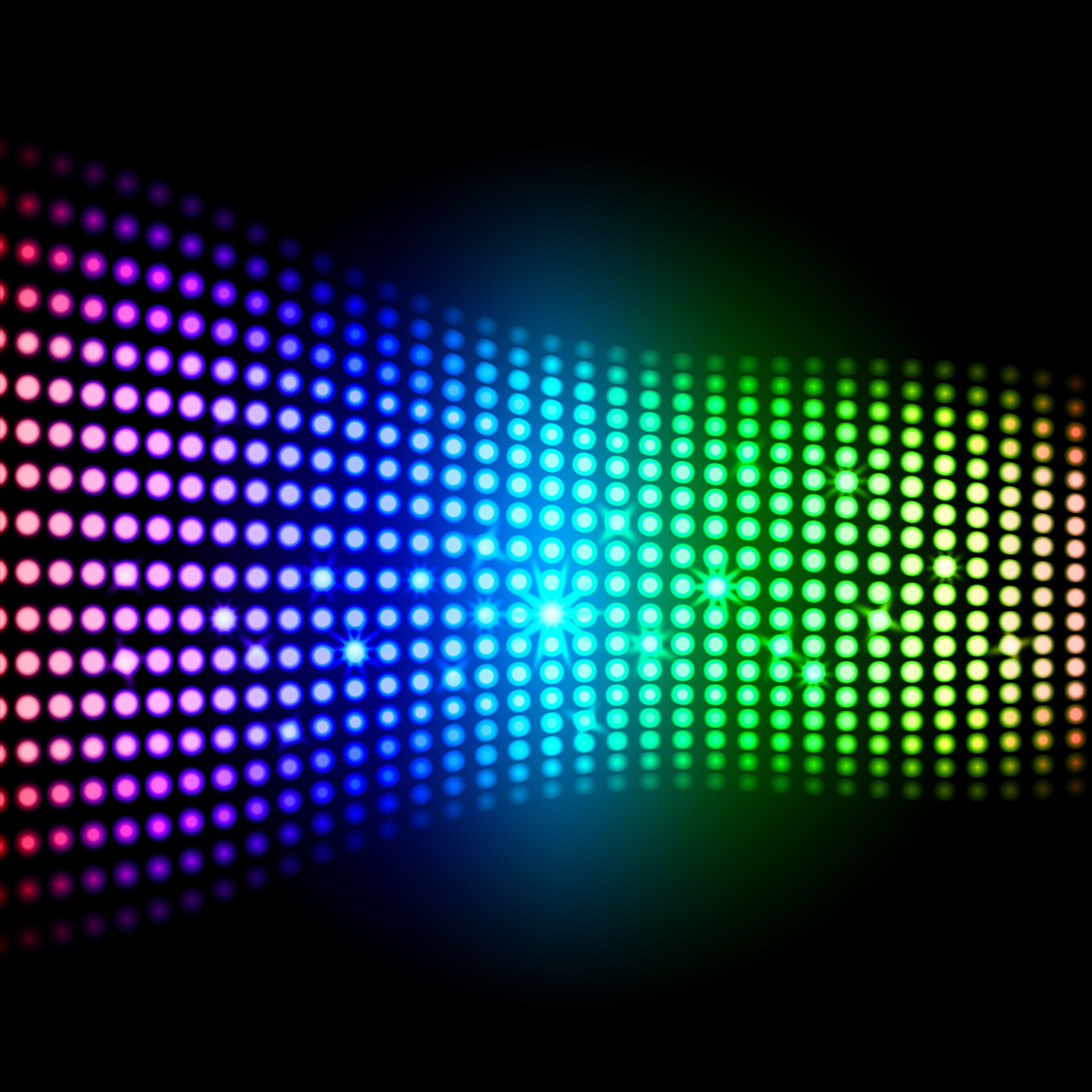 Rainbow light squares background shows colourful digital art photo
