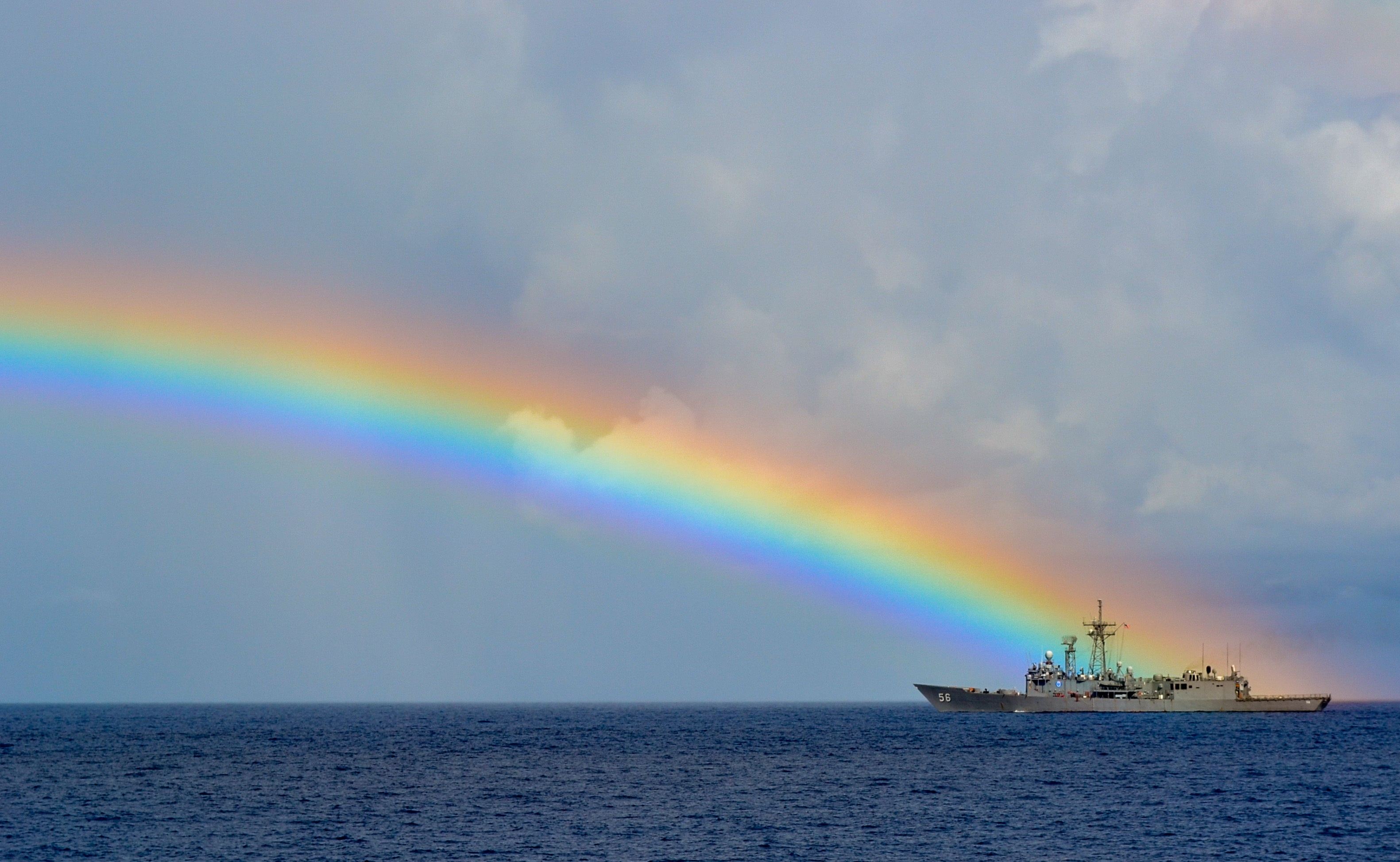 Rainbow on the ocean photo