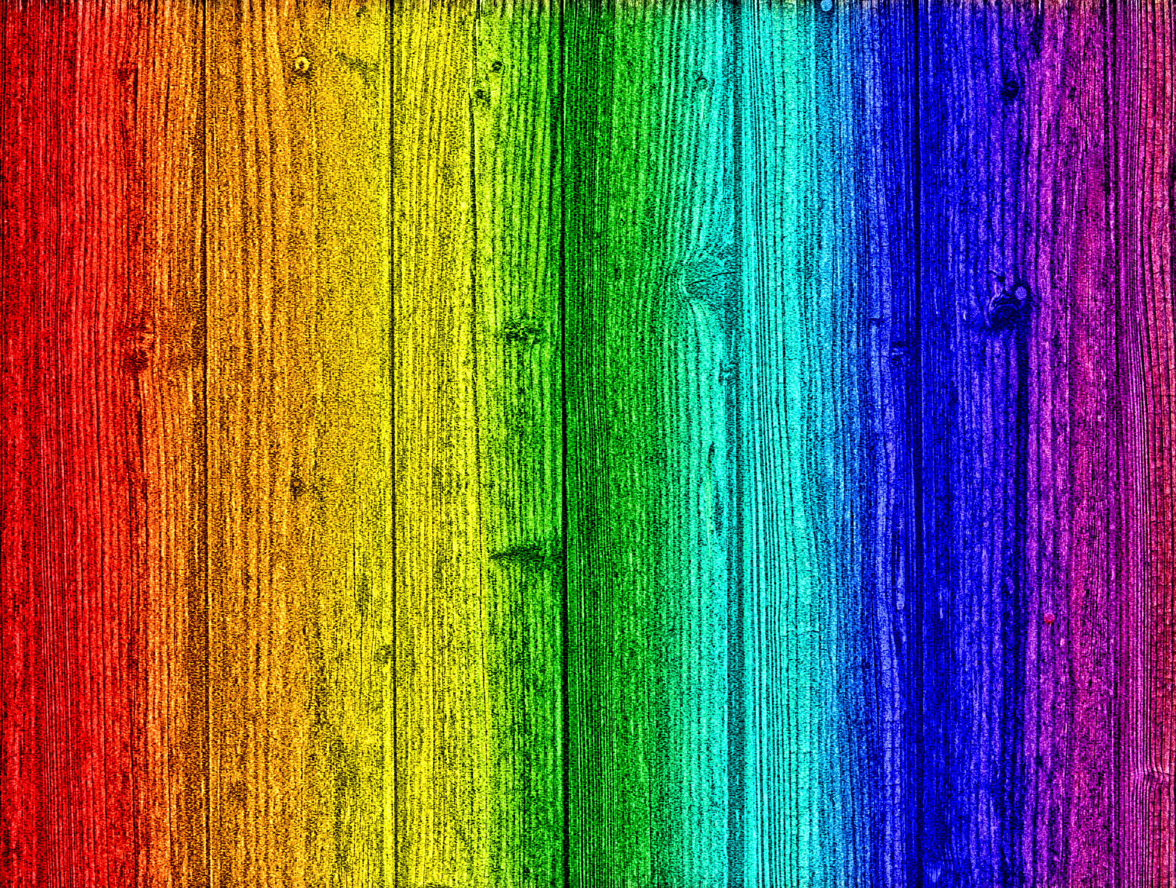 Rainbow on wood - Background, Abstract, Sample, Paint, Palette, HQ Photo