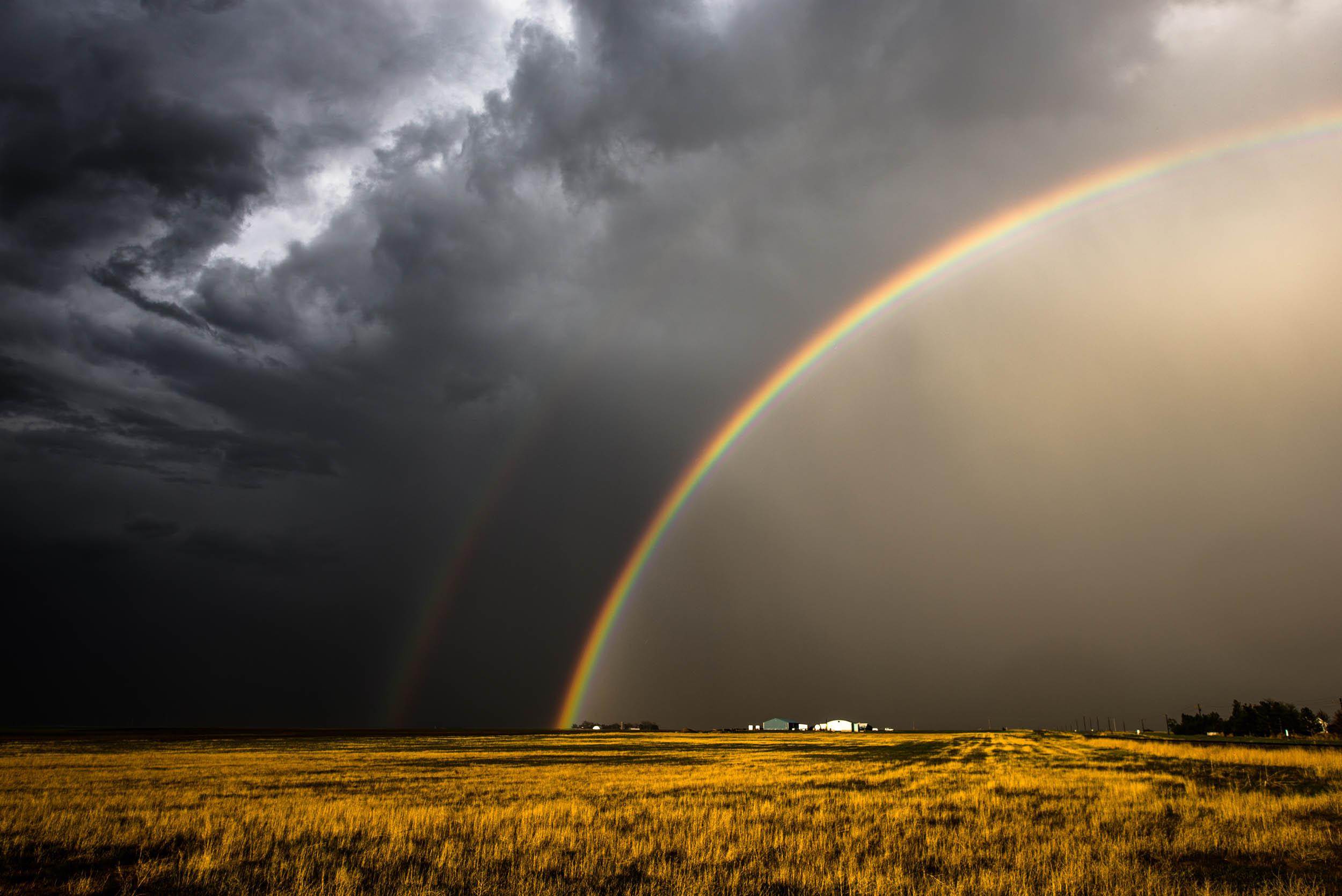 Rainbow storm photo