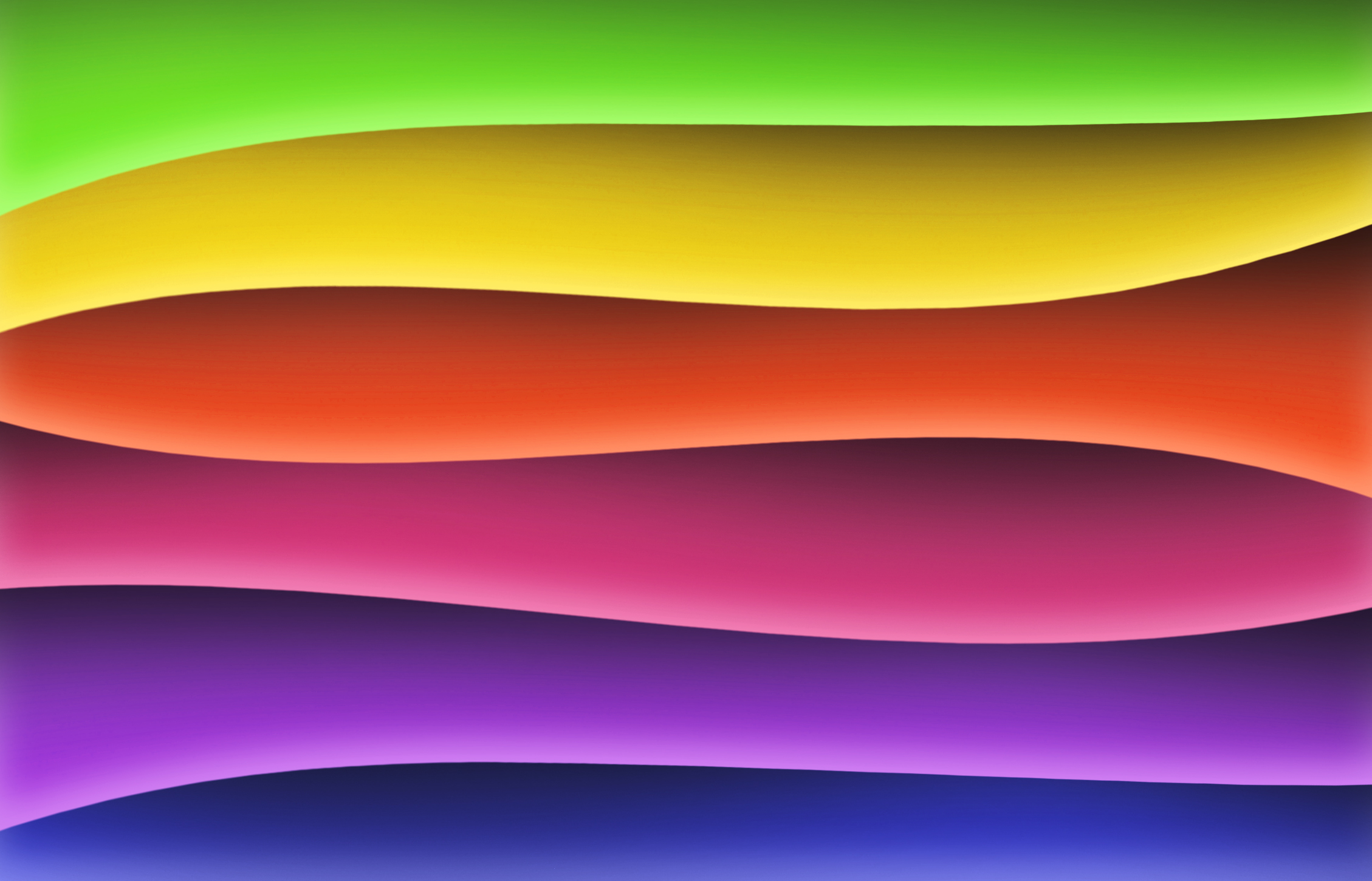 Rainbow waves wallpaper graphics, Abstract, Shape, Lines, Motion, HQ Photo