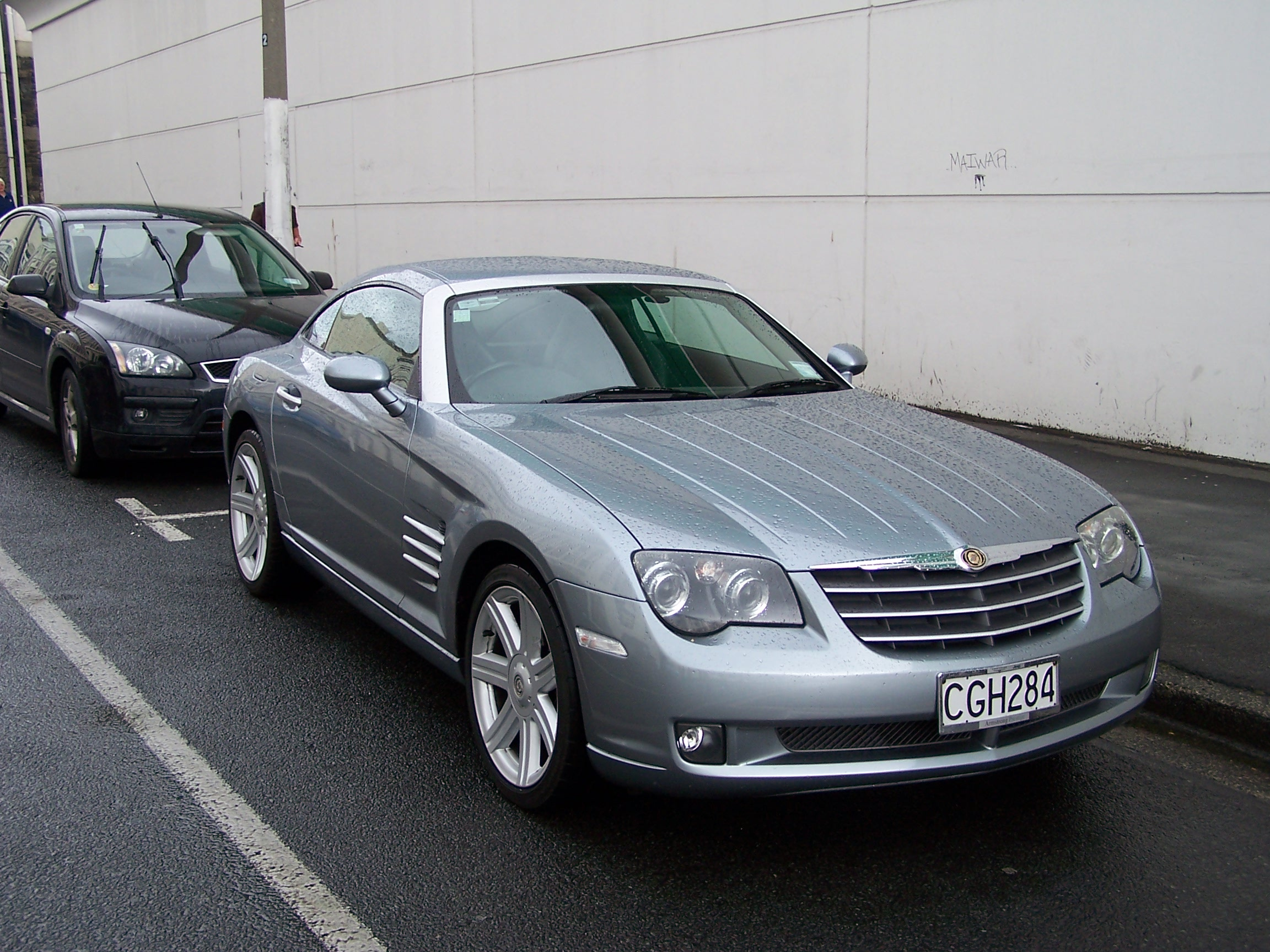 Rained drenched chrysler crossfire photo