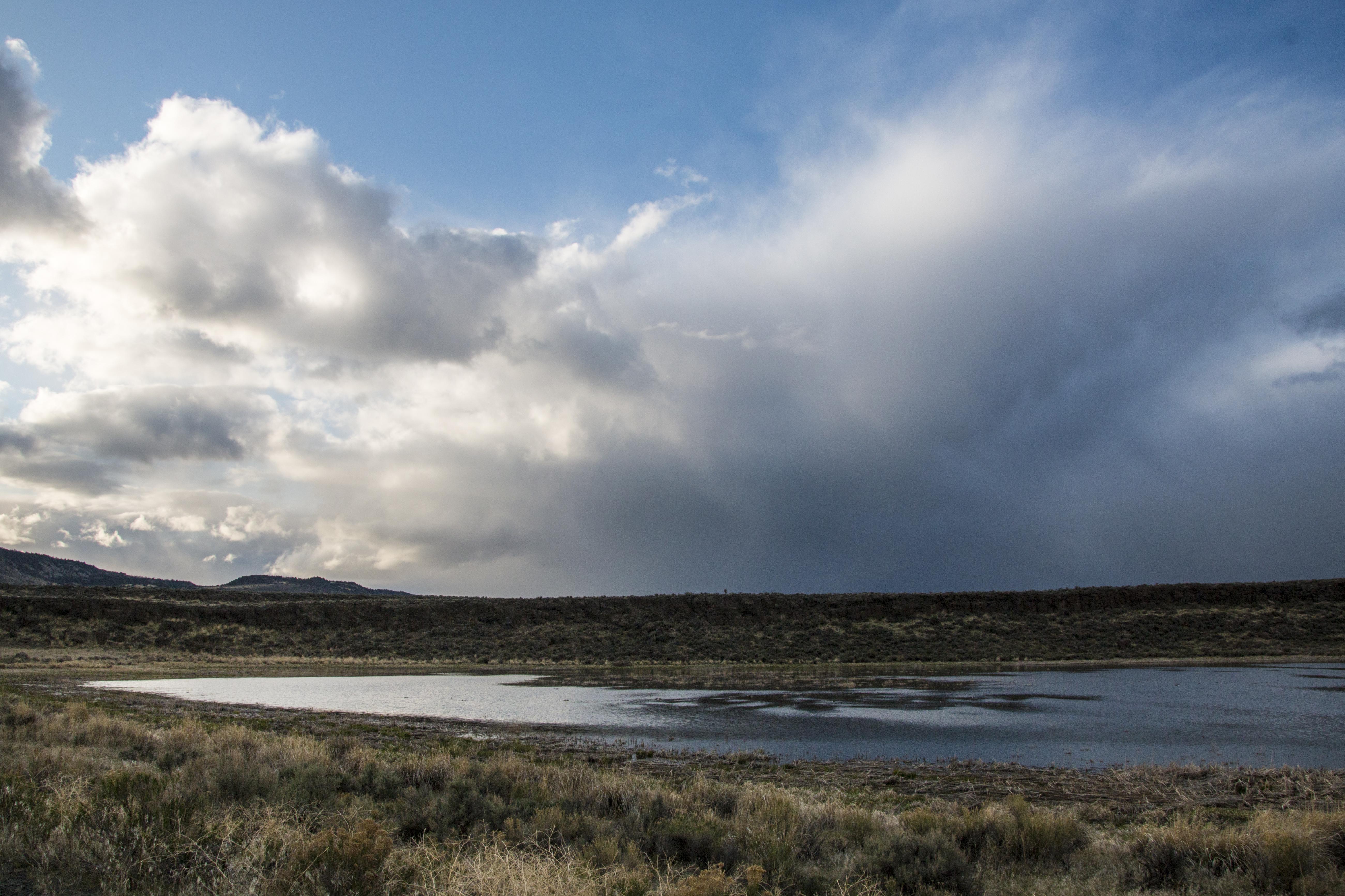 Raining on mahleur national wildlife refuge, oregon photo