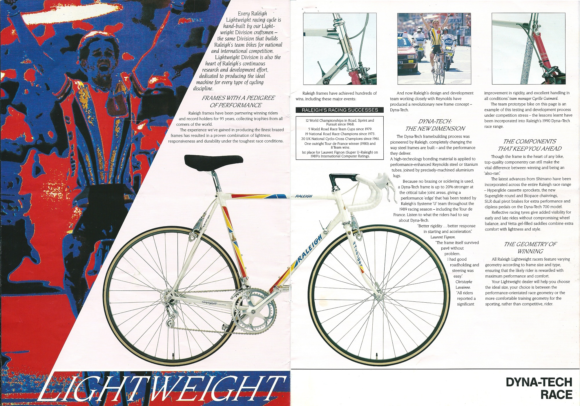 1990 Raleigh Lightweight Catalogue