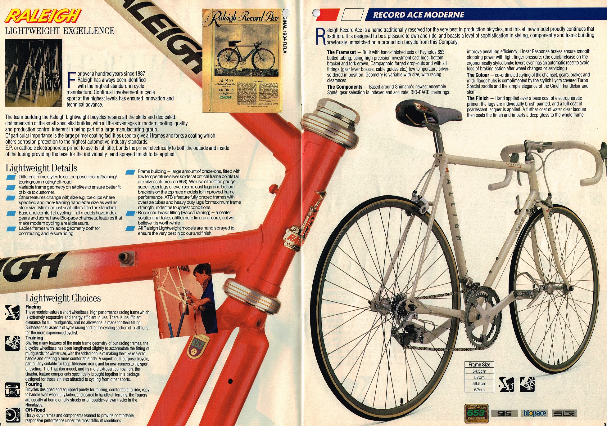 1988 Raleigh Lightweights Catalog