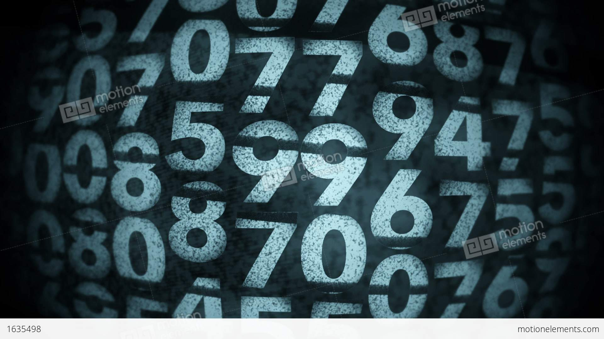 Random Numbers Background Stock Animation | 1635498