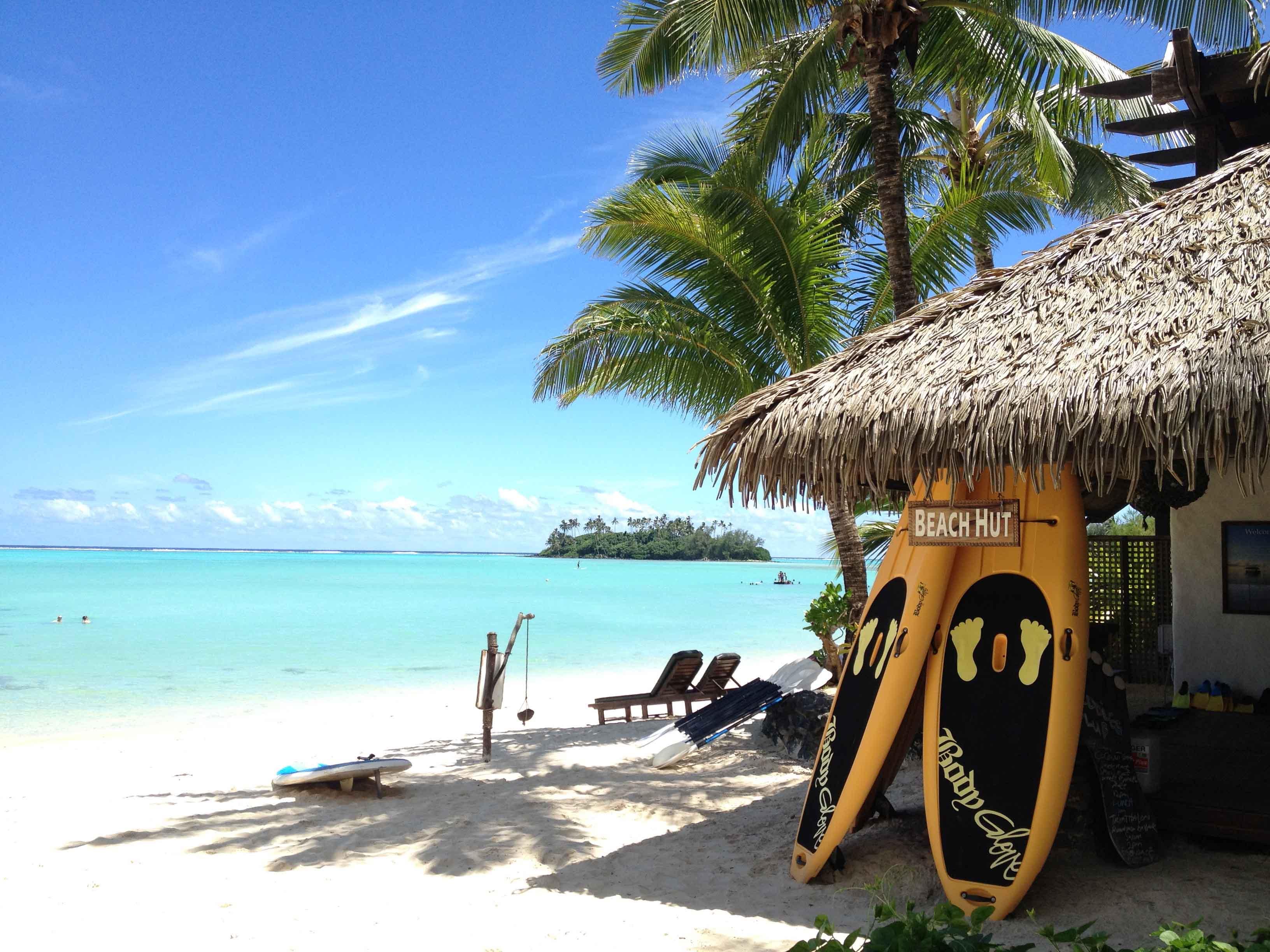 Rarotonga beach hut photo