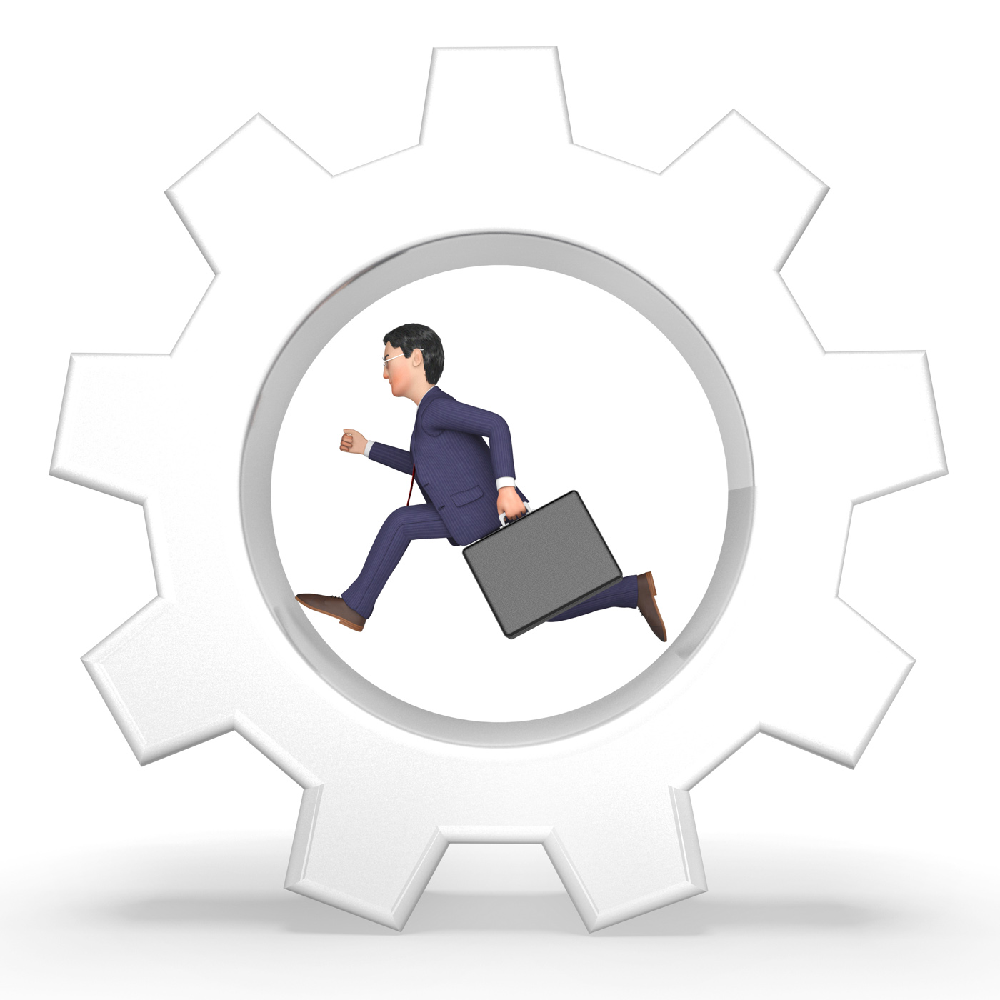 Rat Race Represents Mind Numbing And Businessman 3d Rendering, Sprinting, Ratrace, Routine, Runner, HQ Photo