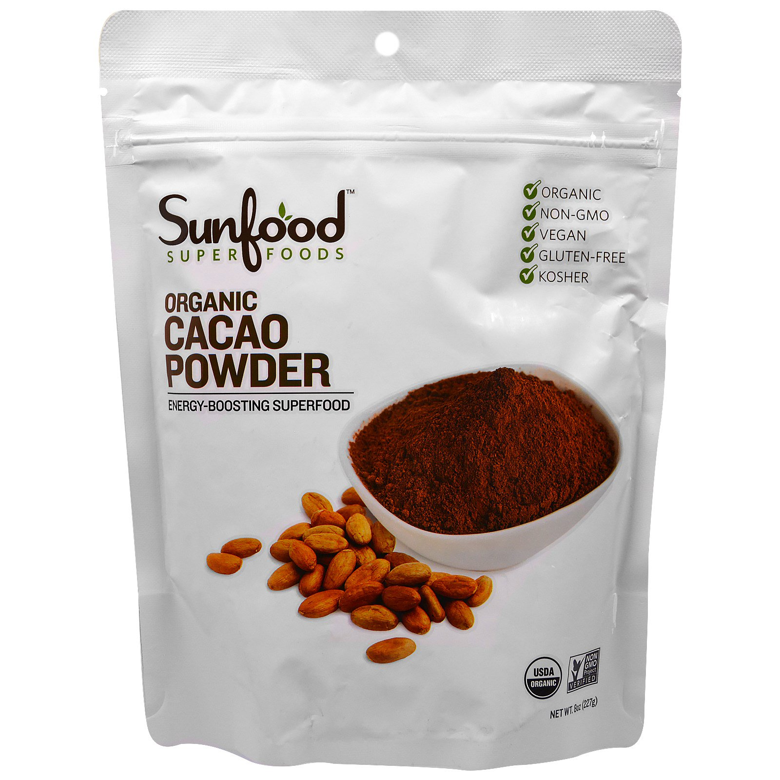 Raw cocoa powder superfood photo