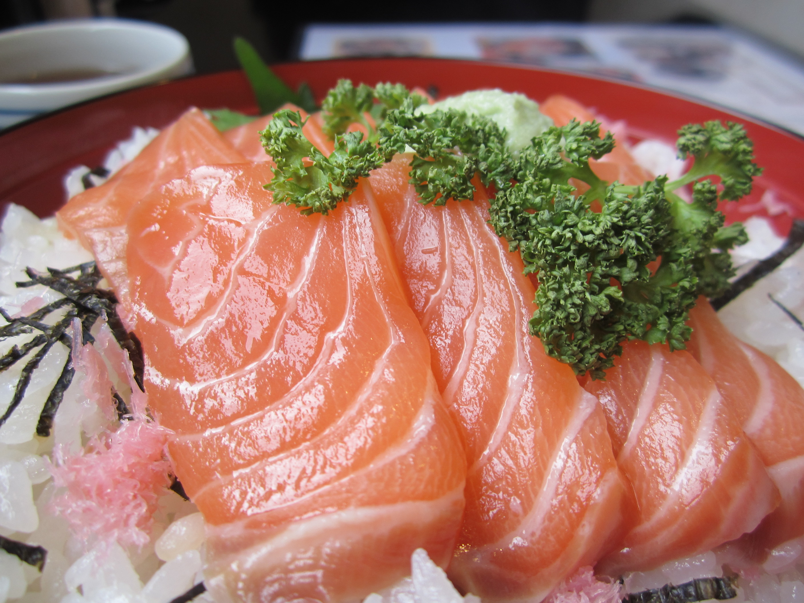 How to make Raw Salmon Donburi Rice Bowl: Easy Japanese Recepes for ...