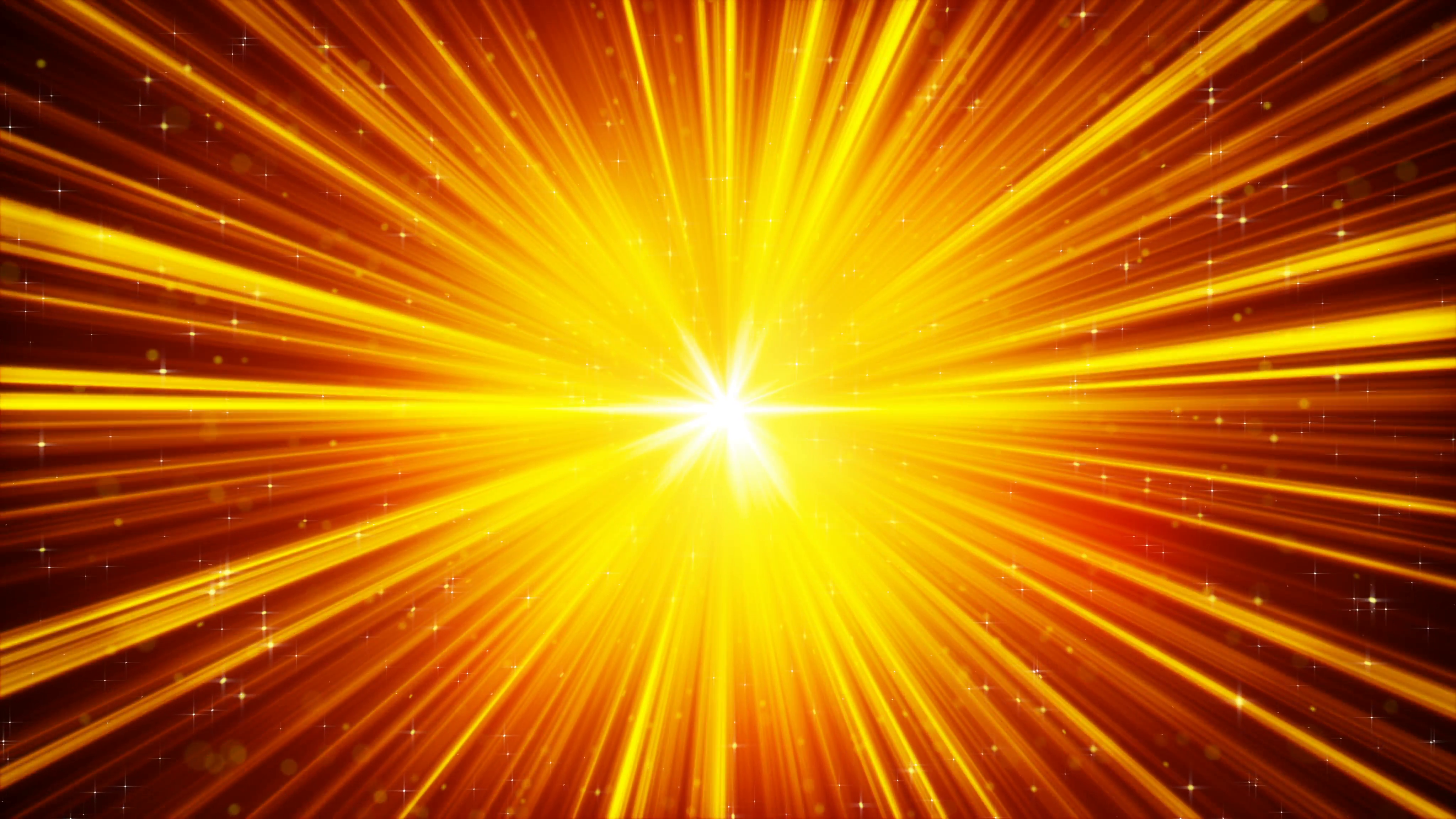 yellow shining light rays and stars loopable background 4k ...