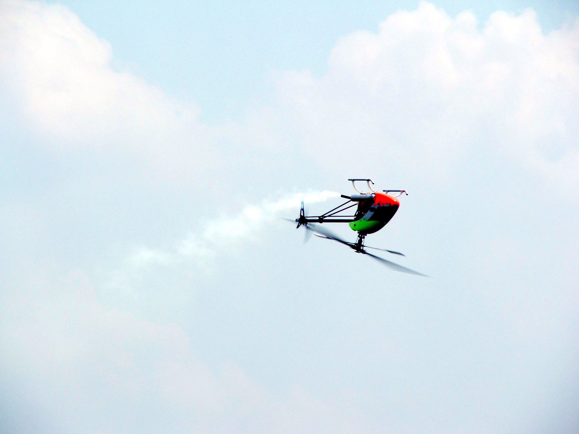 Rc helicopter in flight photo
