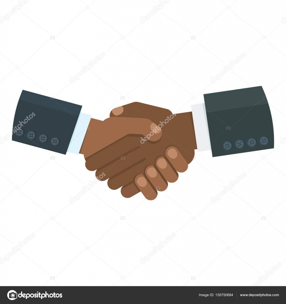 black handshake image — Stock Vector © quarta #155750684