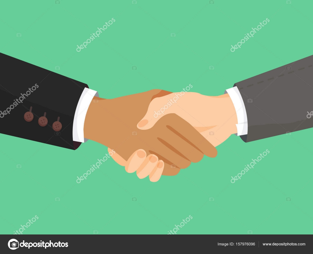 Handshake of business partners. Symbol of reaching an agreement ...