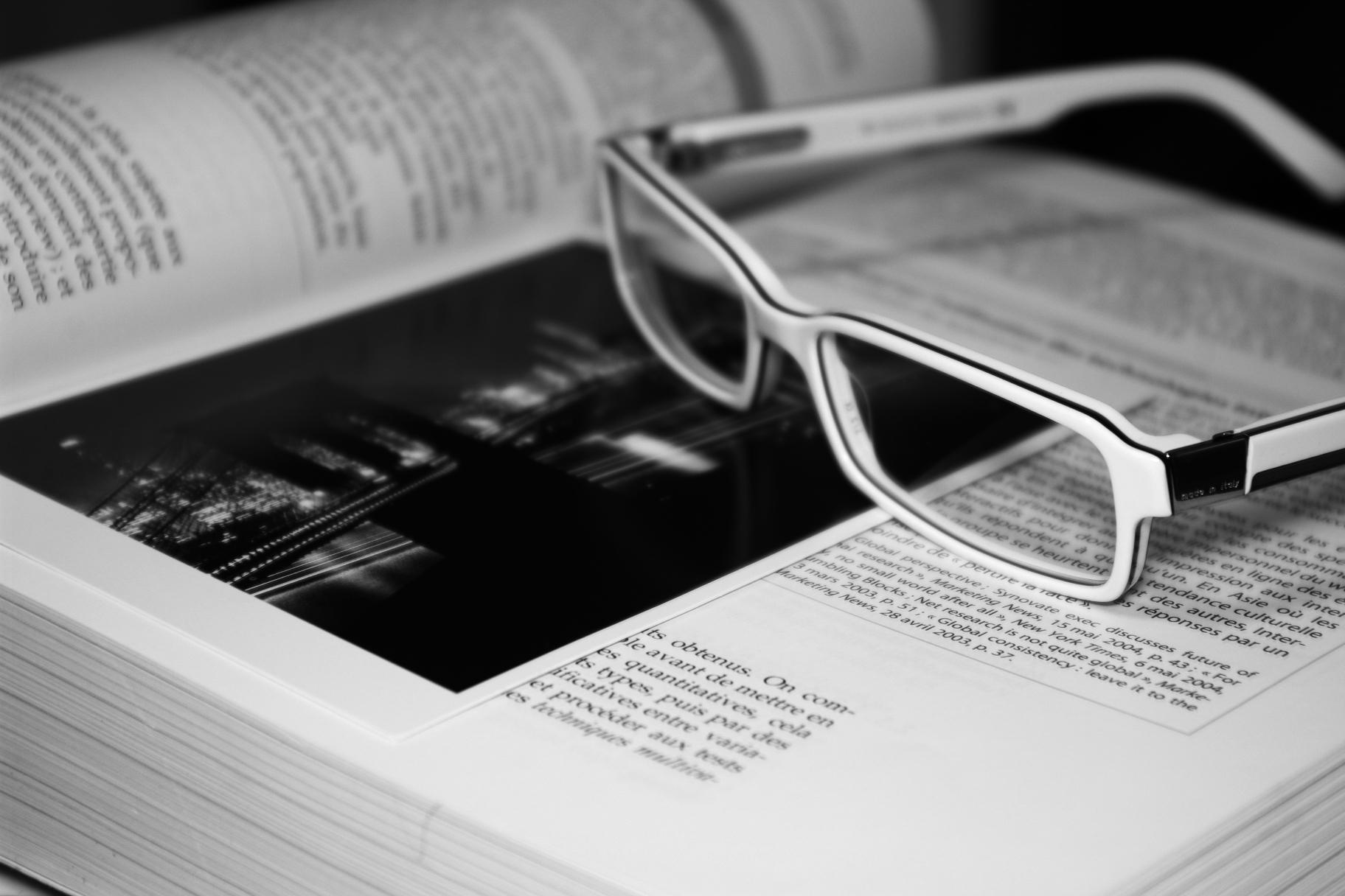 Read a book, Black, Book, Glasses, Lecture, HQ Photo