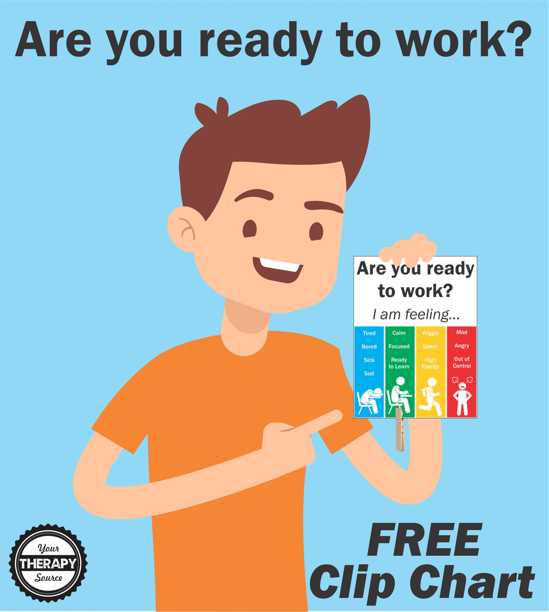 Are You Ready to Work Clip Chart Freebie - Your Therapy Source